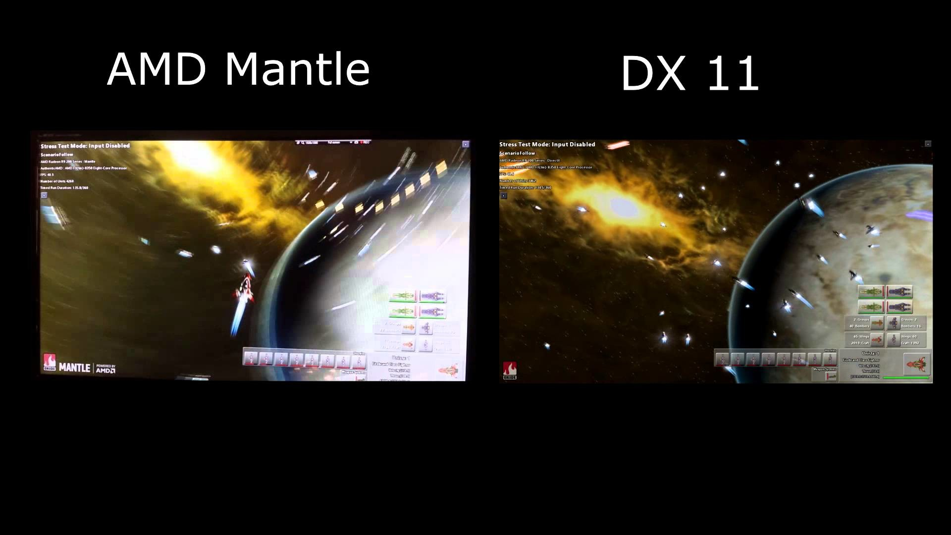 AMD Mantle Vs DirectX Star Swarm Benchmark Demo on AMD FX-8350 Radeon R9  270x