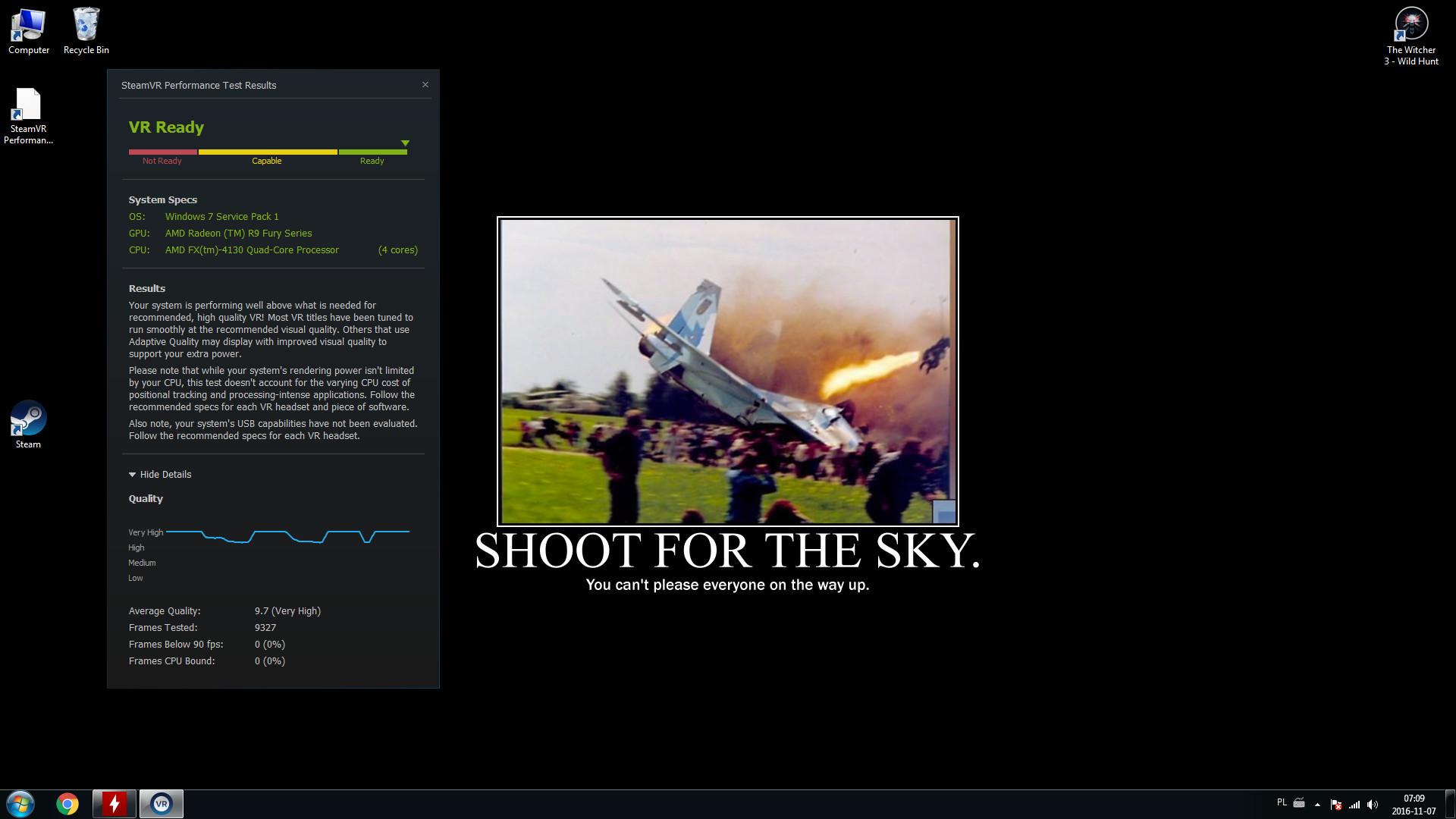 PhotoMy R9 Fury Nitro Steam VR score… +wallpaper …