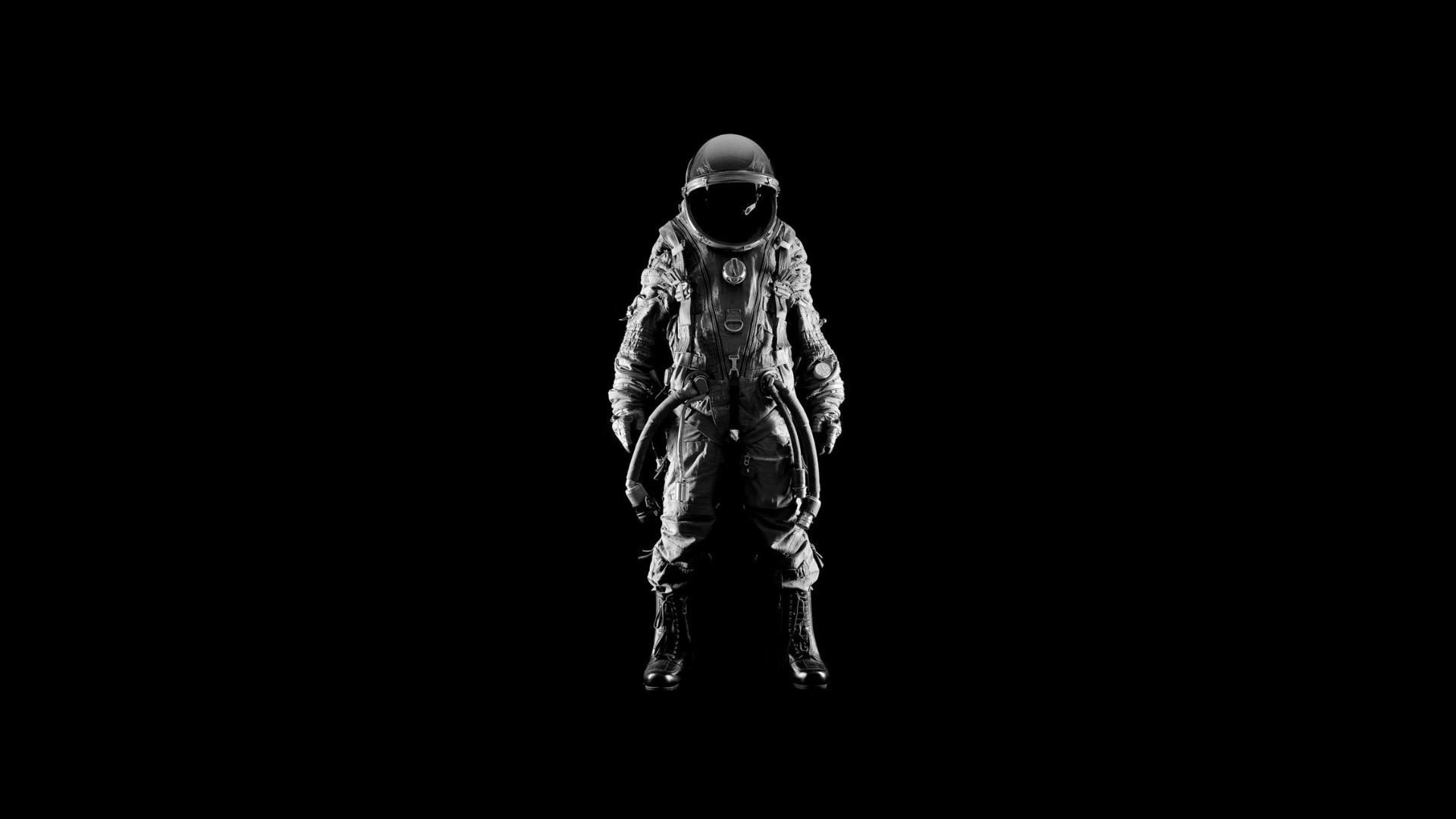 Men suit helmets simple background black astronaut wallpaper