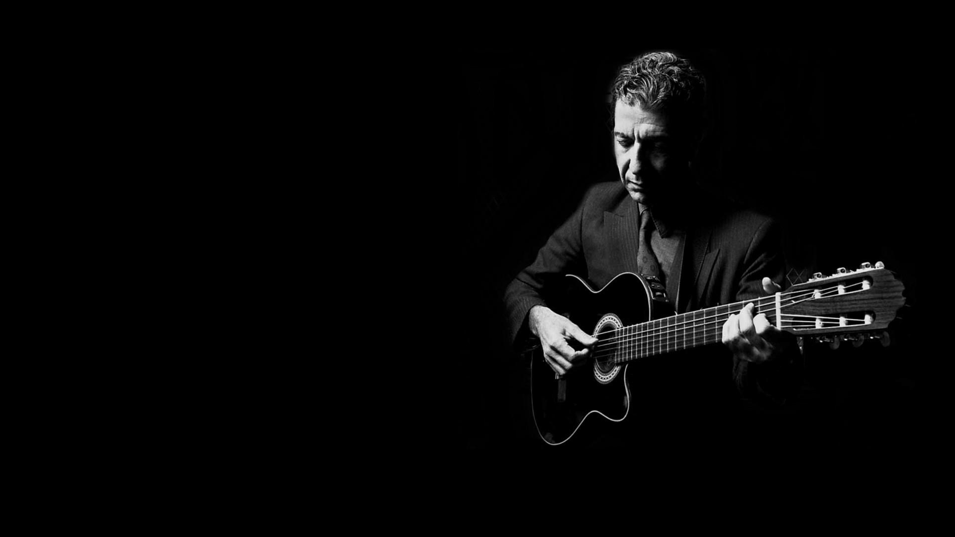 Wallpaper Leonard cohen, Guitar, Suit, Light, Strings