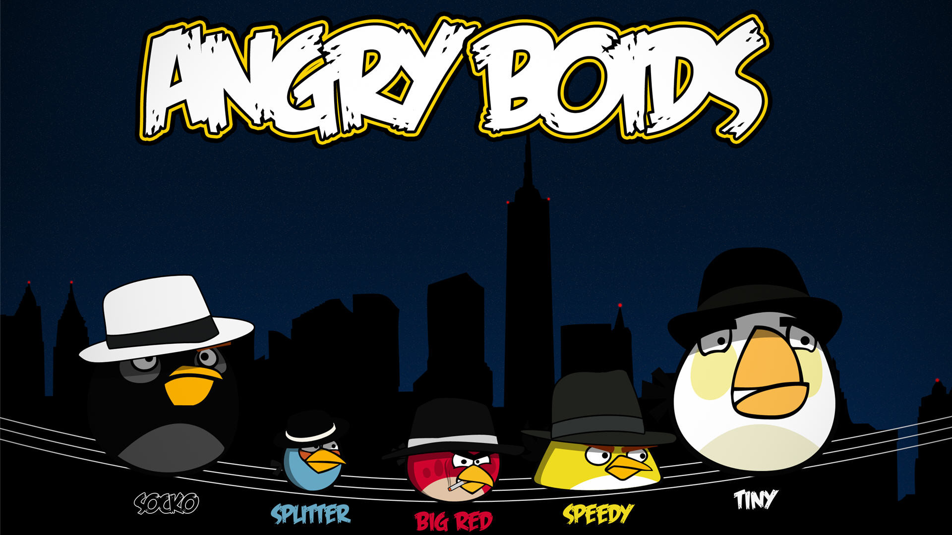 Angry Birds Gangster Wallpaper