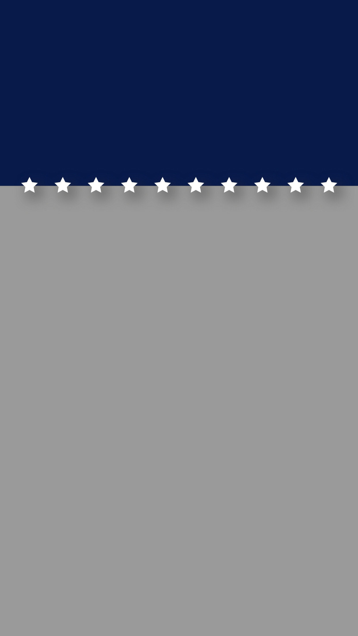 Minimal blue and gray with stars patriotic iPhone 6 Plus lock screen  wallpaper.
