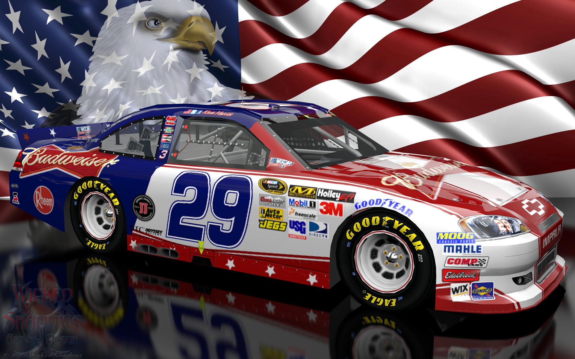 Kevin Harvick NASCAR Unites Patriotic Wallpaper