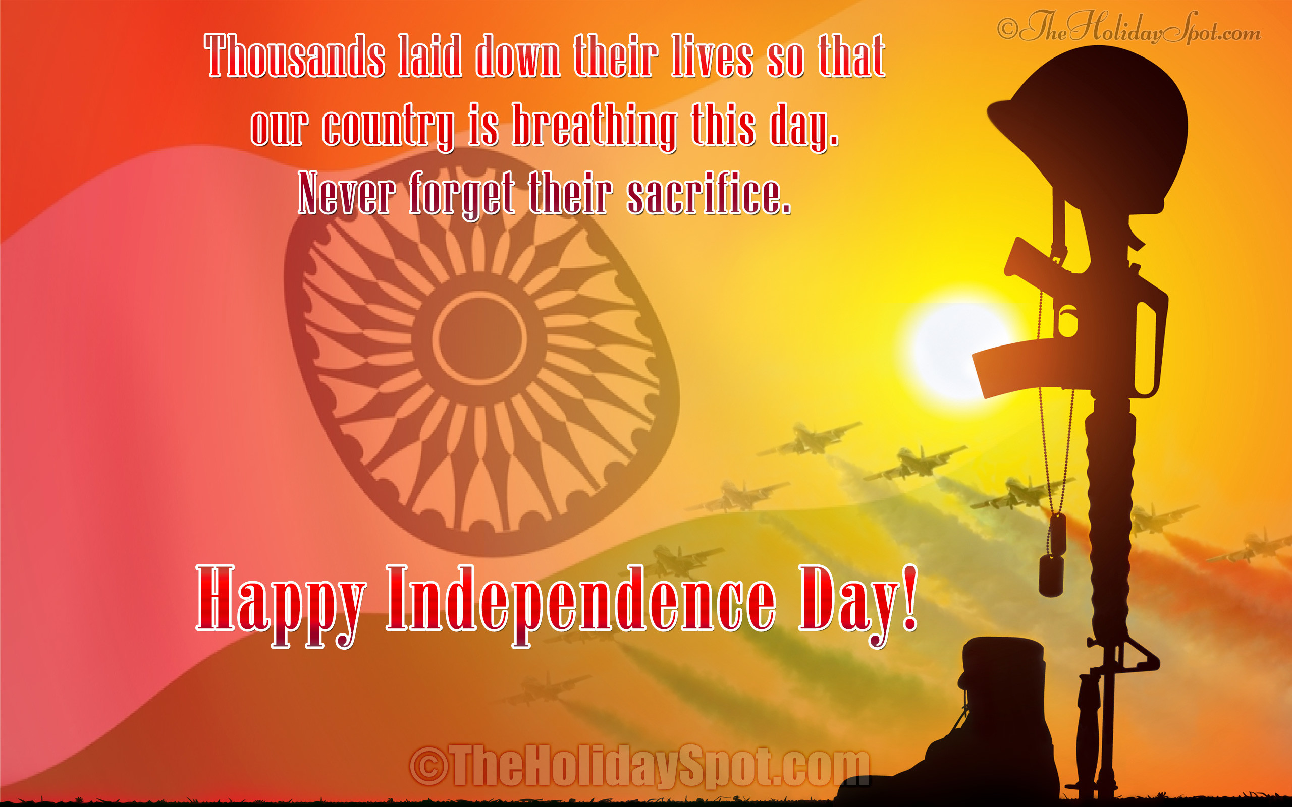 Colorful HD Wallpaper with Happy Indian Independence Day wishes