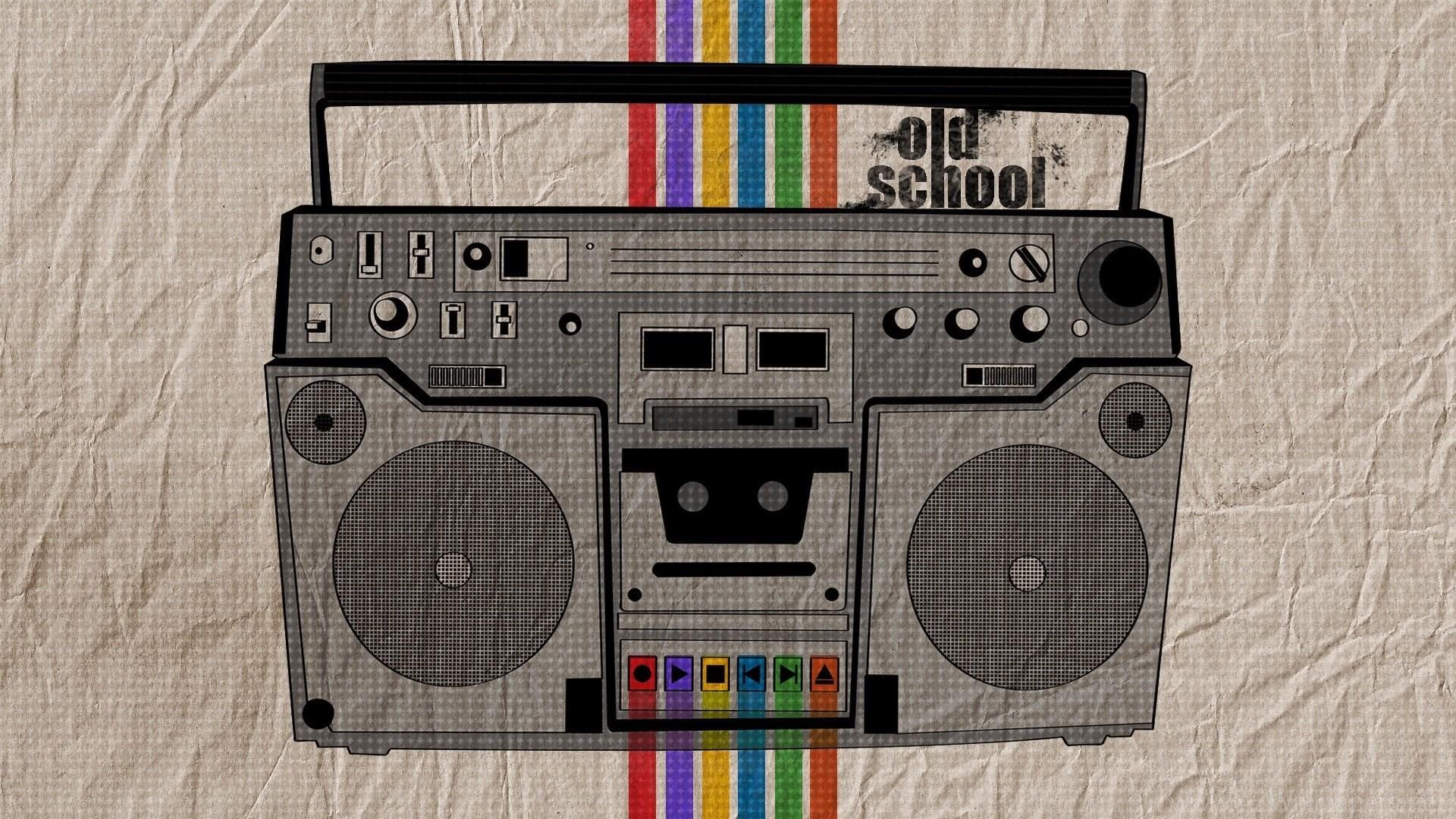 Download Oldschool Boombox Wallpapers 1920×1080