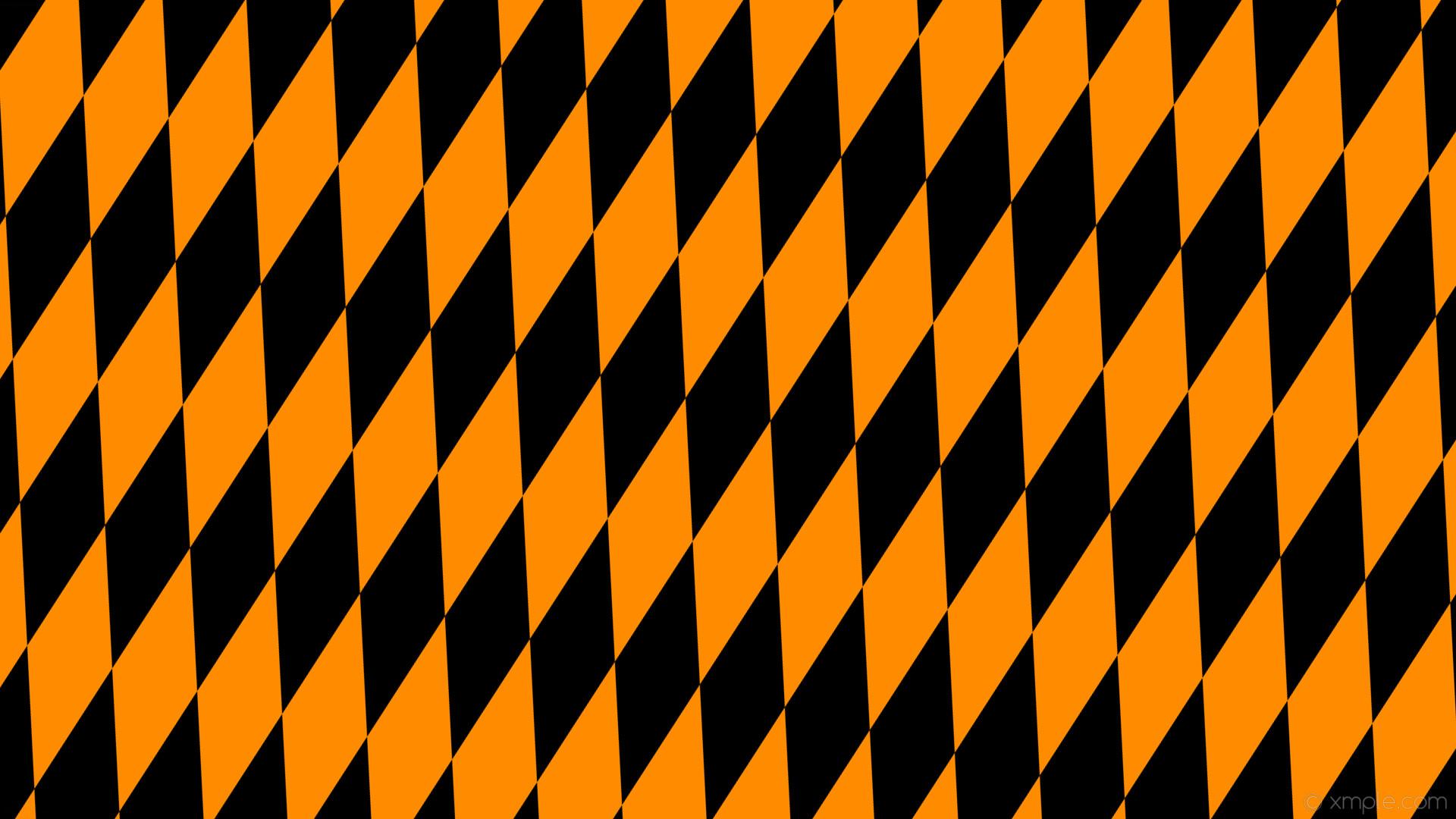 wallpaper orange black rhombus diamond lozenge dark orange #000000 #ff8c00  75° 360px 116px