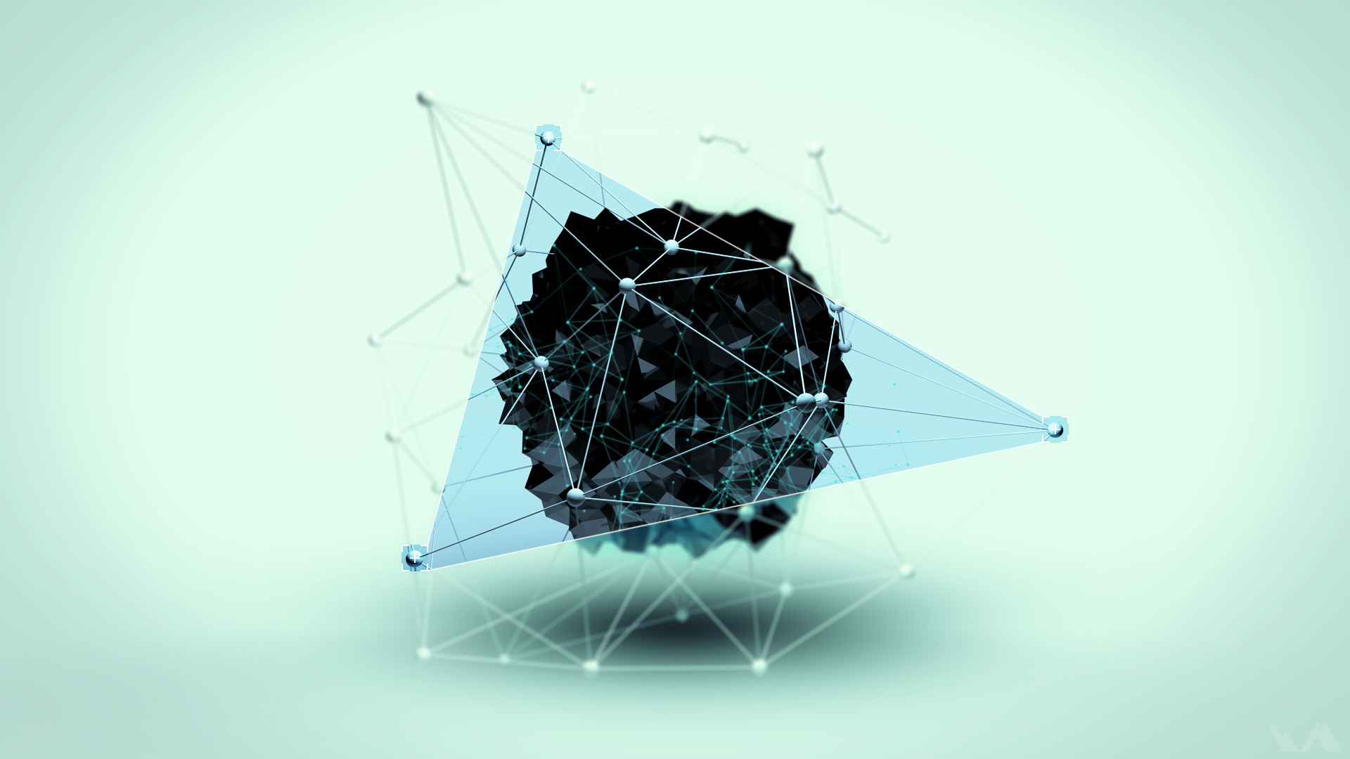 Abstract Digital Art Geometry Shapes Simple Background Triangles