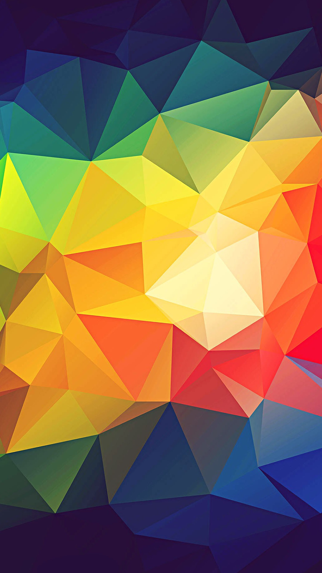Colorful Abstract Triangle Shapes Render #iPhone #7 #wallpaper