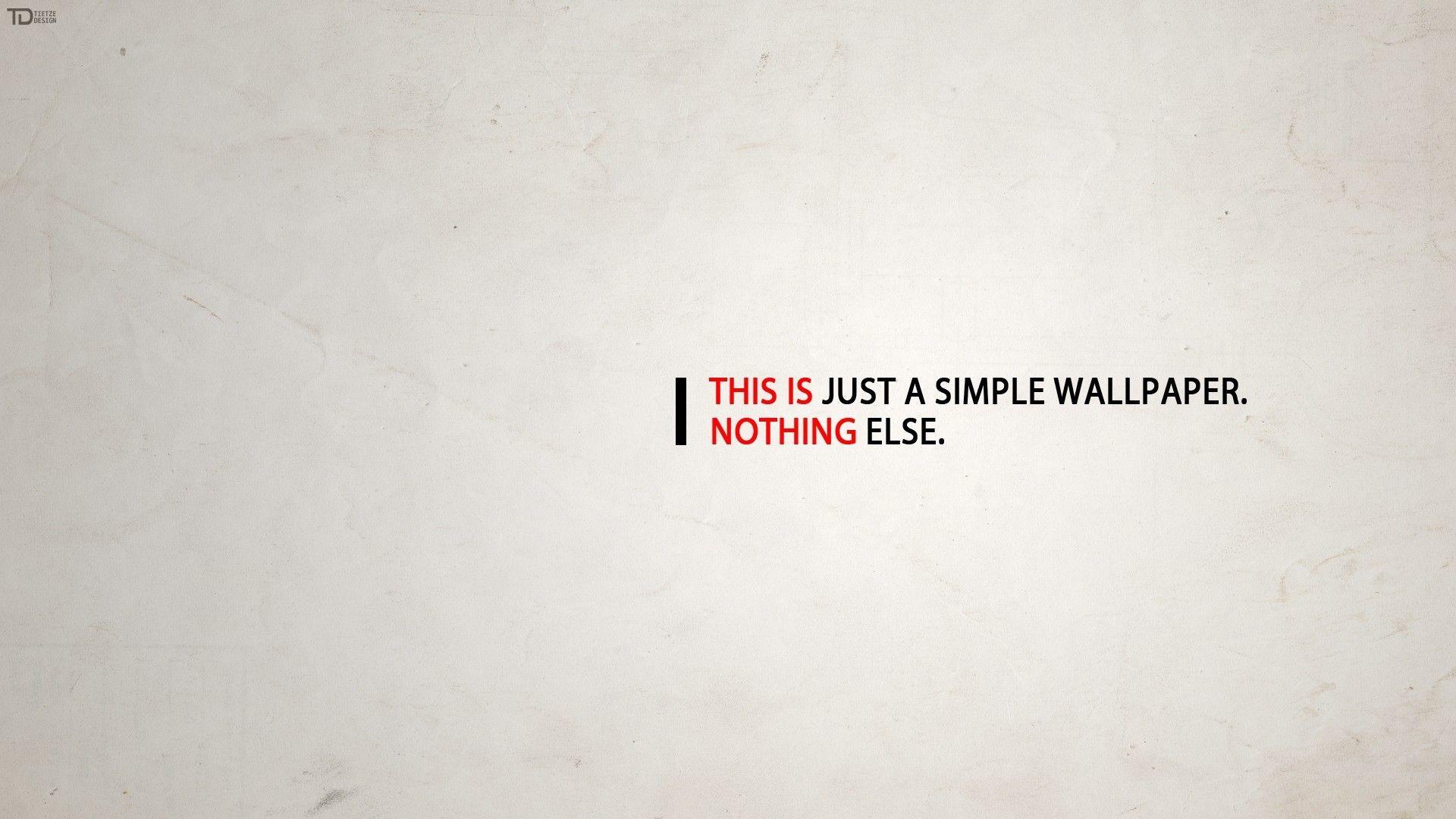 Just A Simple Wallpaper HD Wallpaper » FullHDWpp – Full HD .