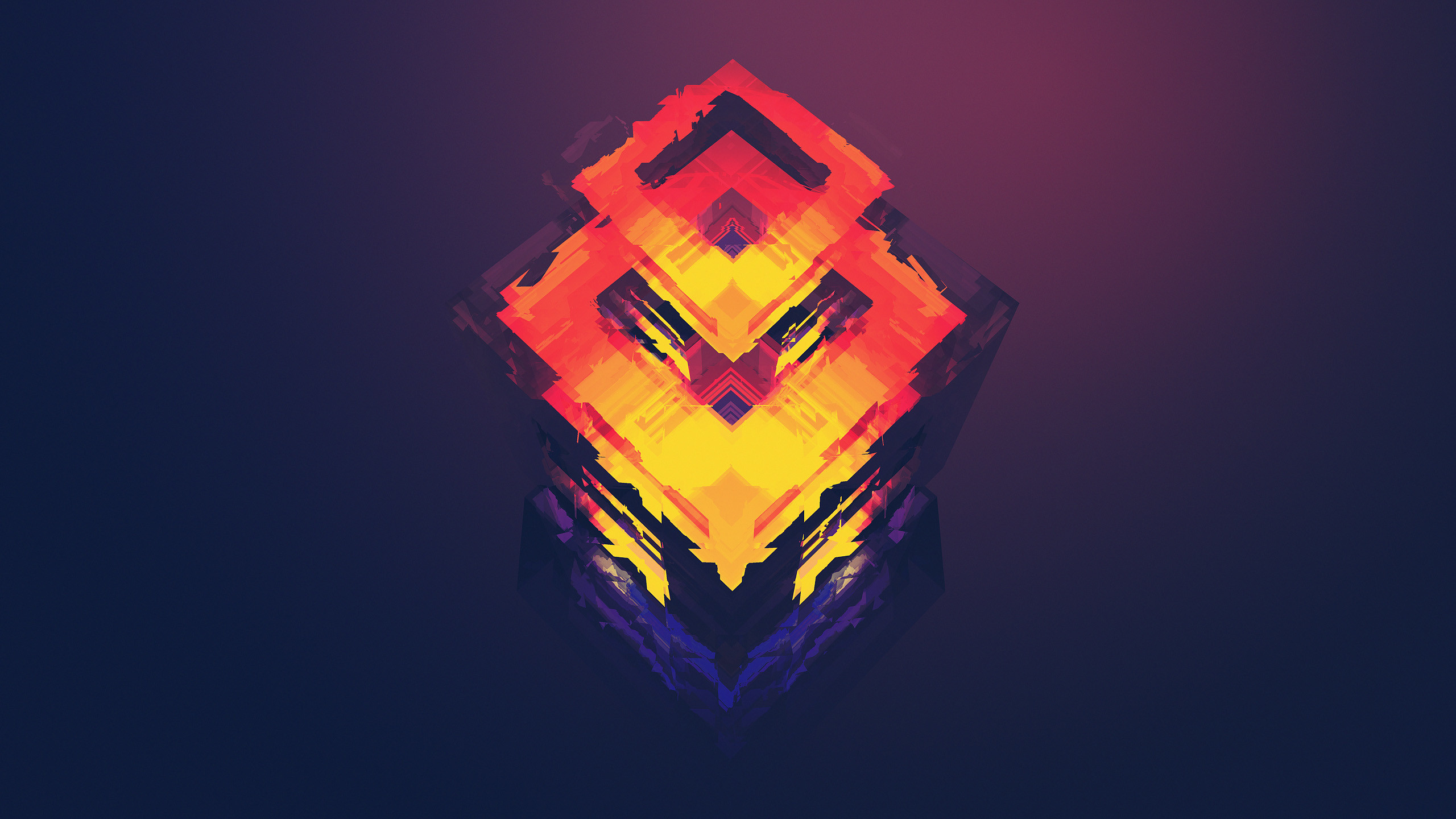 Ghost II Wallpaper Simple Minimalistic Colorful Shapes