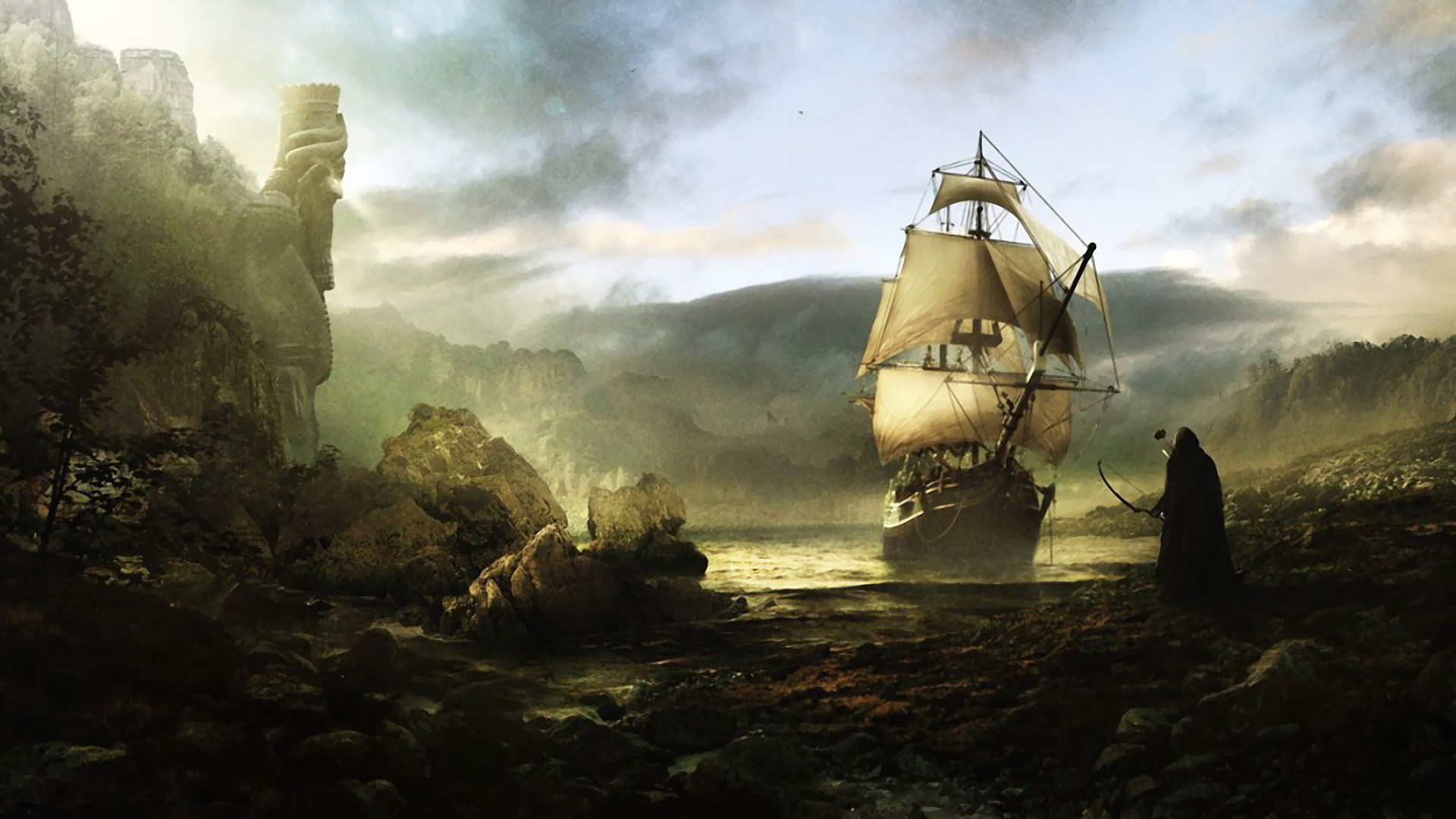 Art Abstract Old Ship Wallpaper HD #1633 Wallpaper | High Resolution .