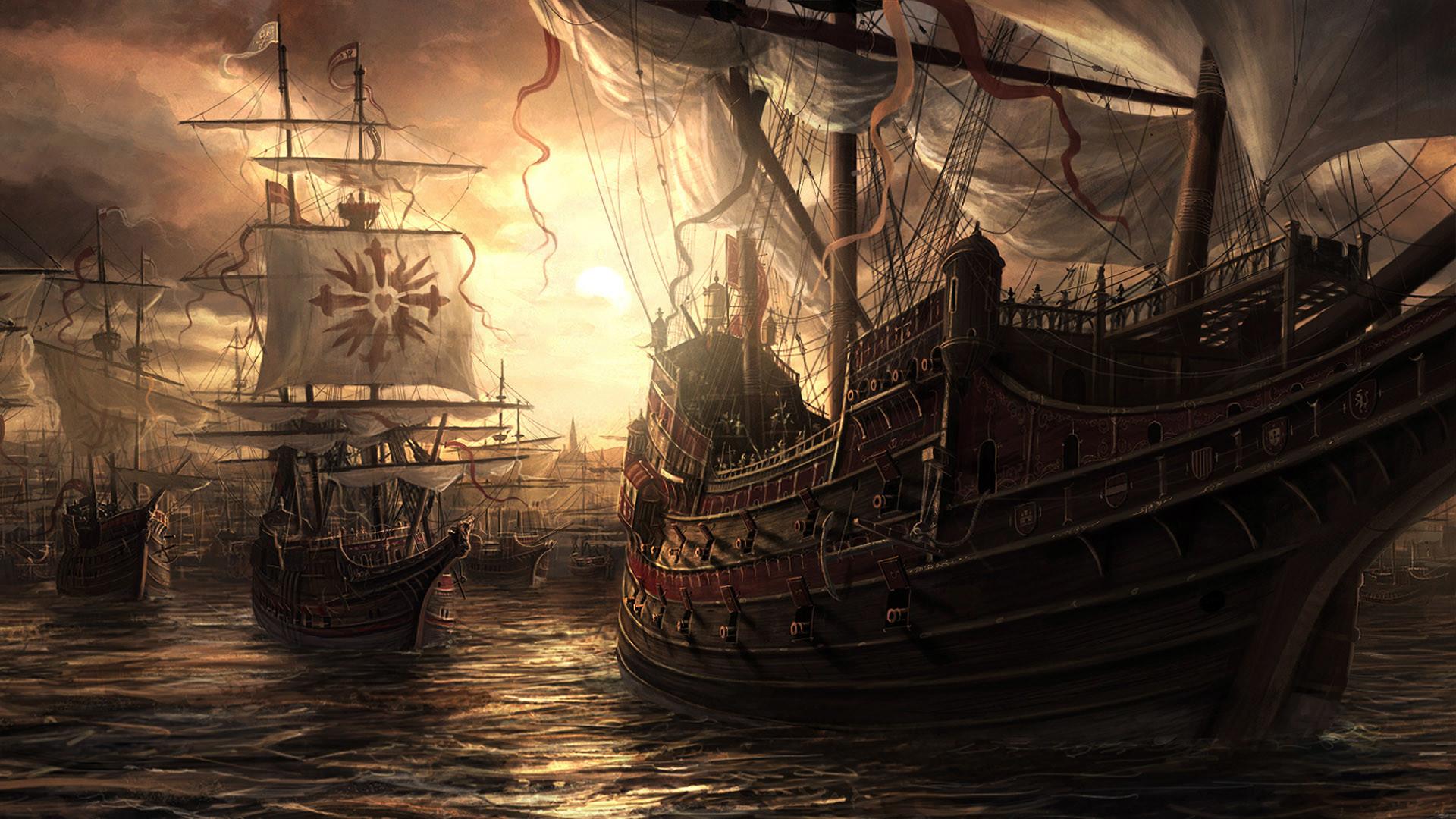 Old Sailing Ships wallpaper