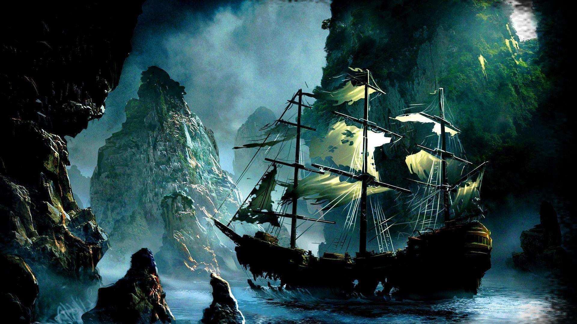 Old Pirate Ship Wallpaper | Queenwallpaper.