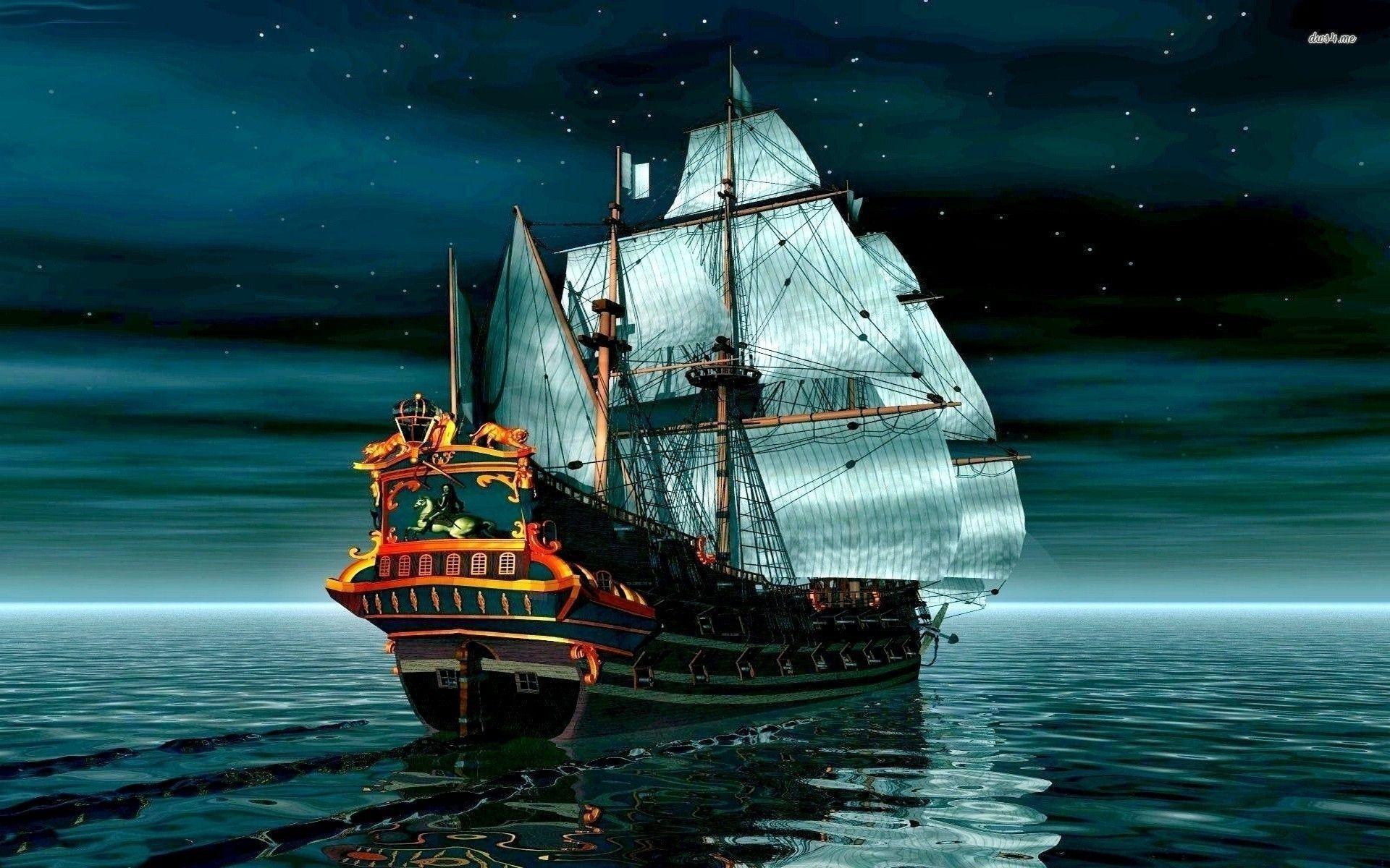 Pirate ship wallpaper – Fantasy wallpapers – #17934