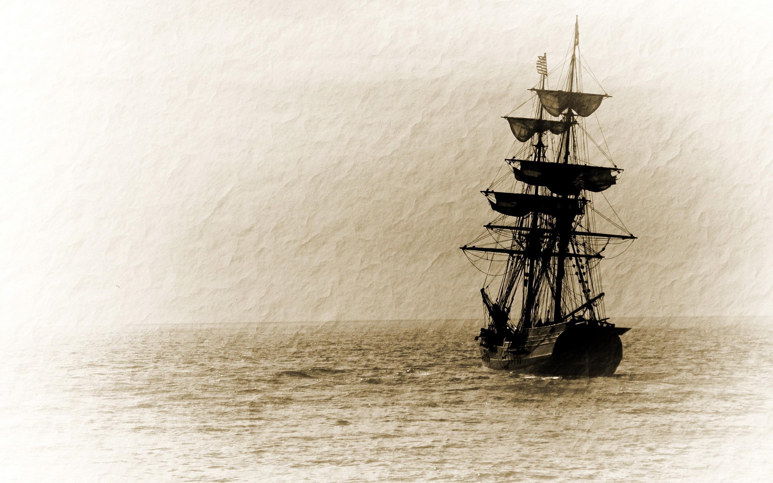 wallpaper paintings · sea · old · ships
