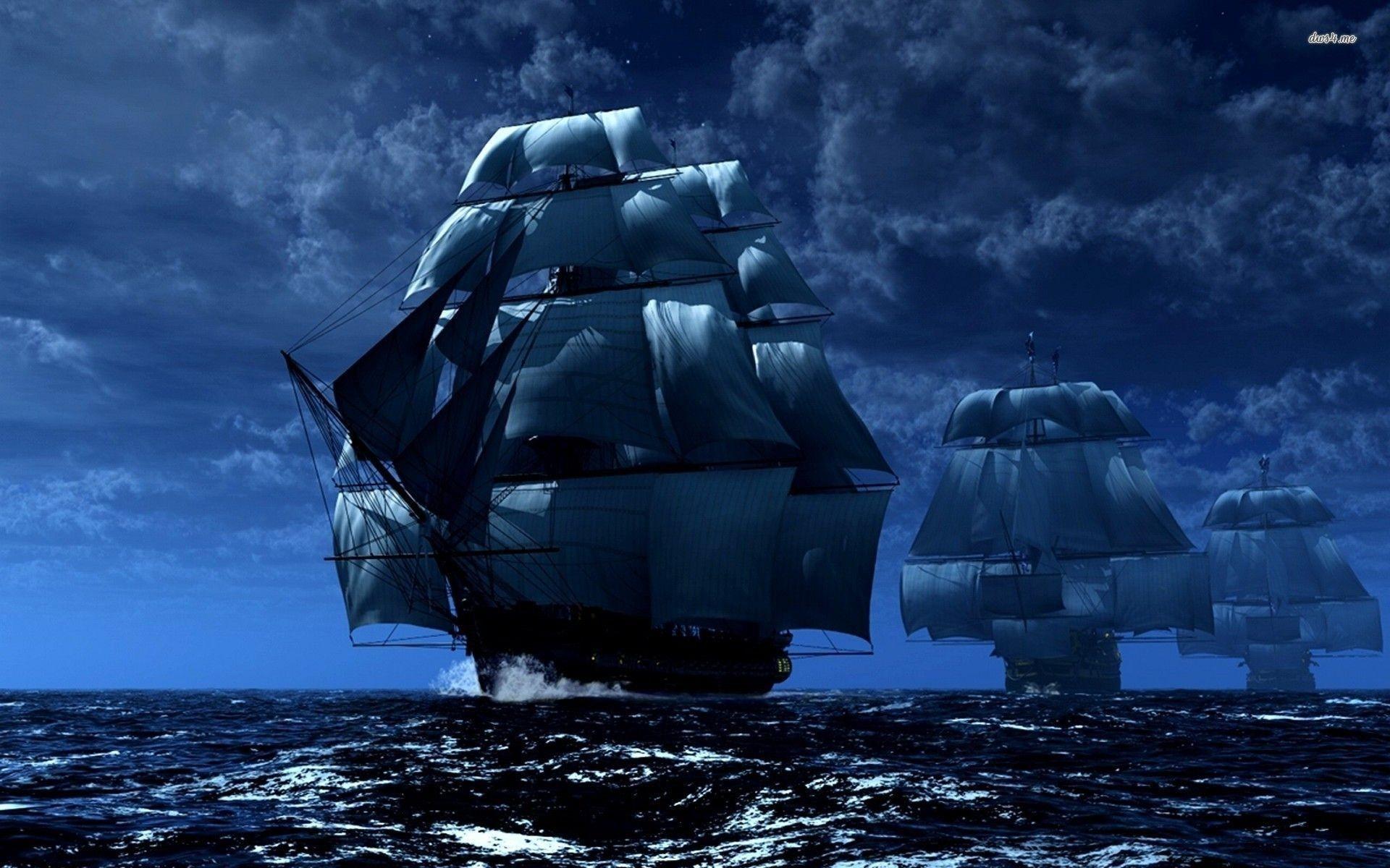 Pirate ships wallpaper – Fantasy wallpapers – #20496