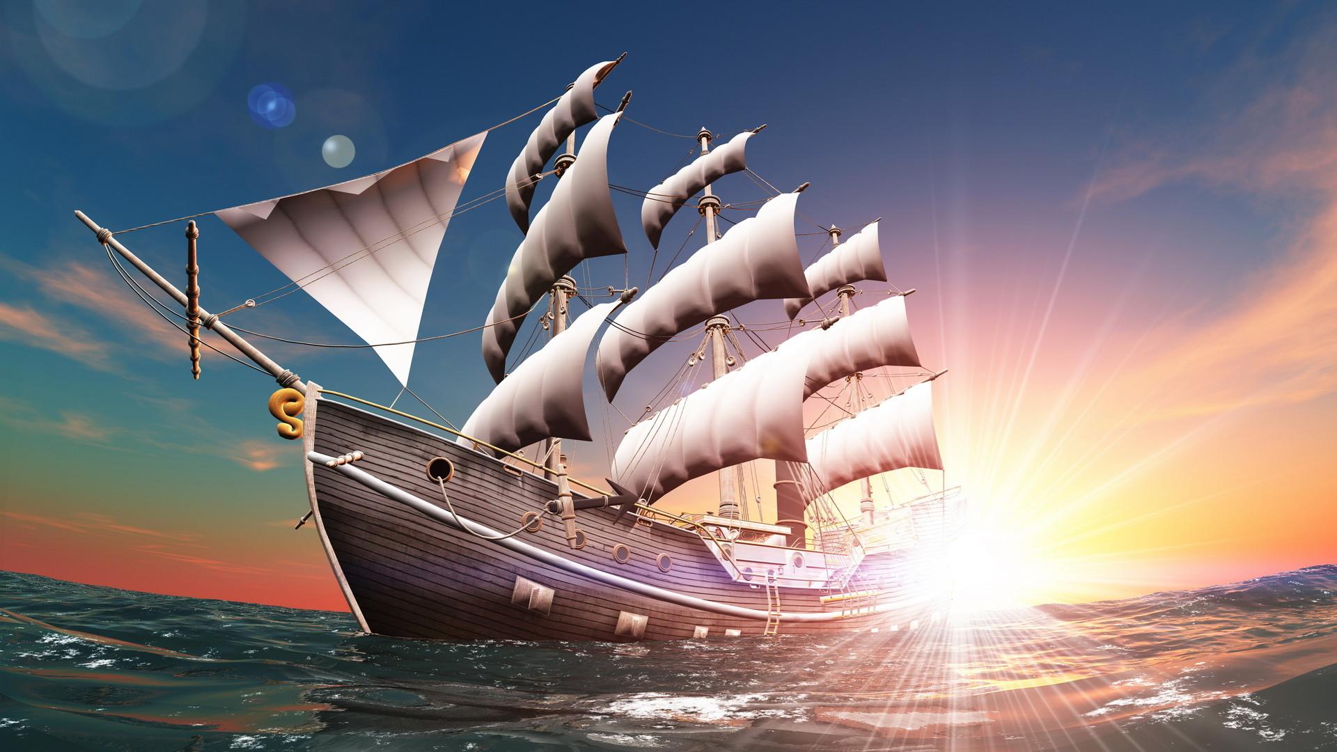 Sailing Ship 4K Ultra HD wallpaper | 4k-Wallpaper.Net