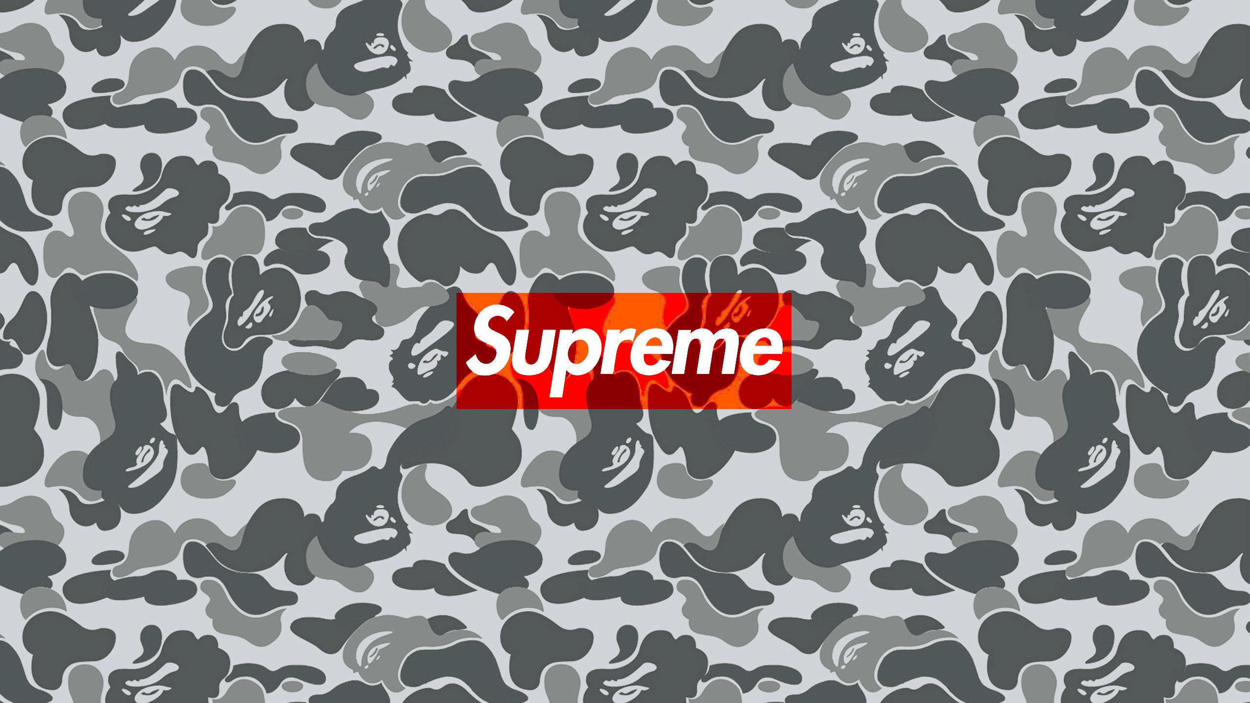 download desktop version (2560×1440). Download the Supreme Bape Camo  wallpaper …