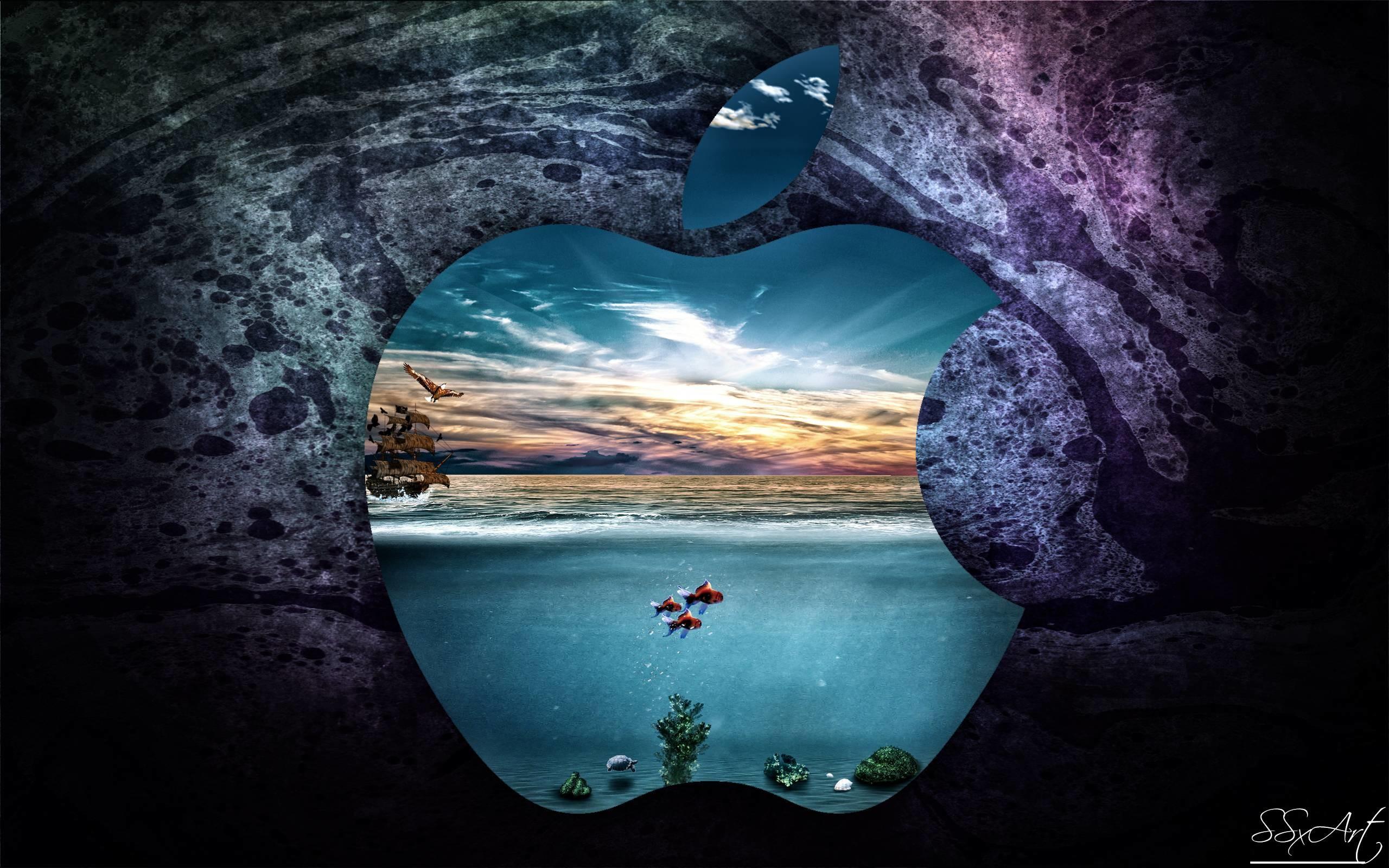 Apple-UnderWater-MacBookPro 13inch Retina display by SSxArt on .