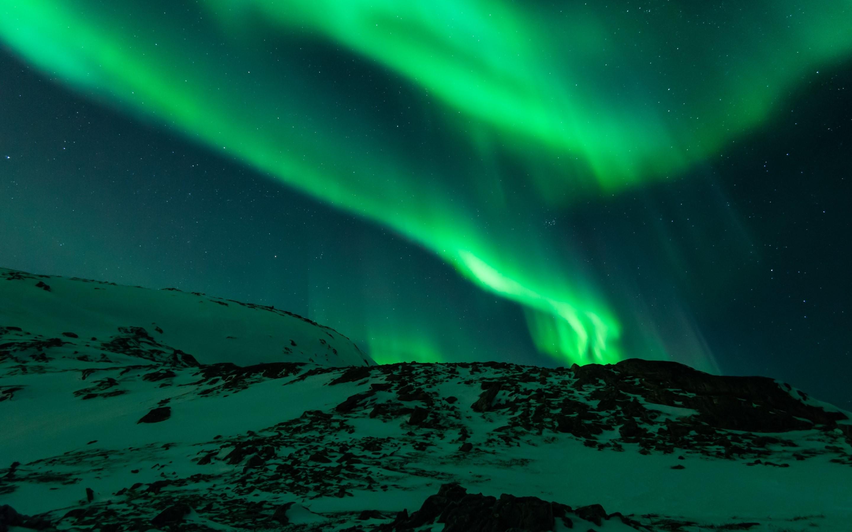Aurora Borealis in Norway macbook desktop. 2880×1080 (Wide)