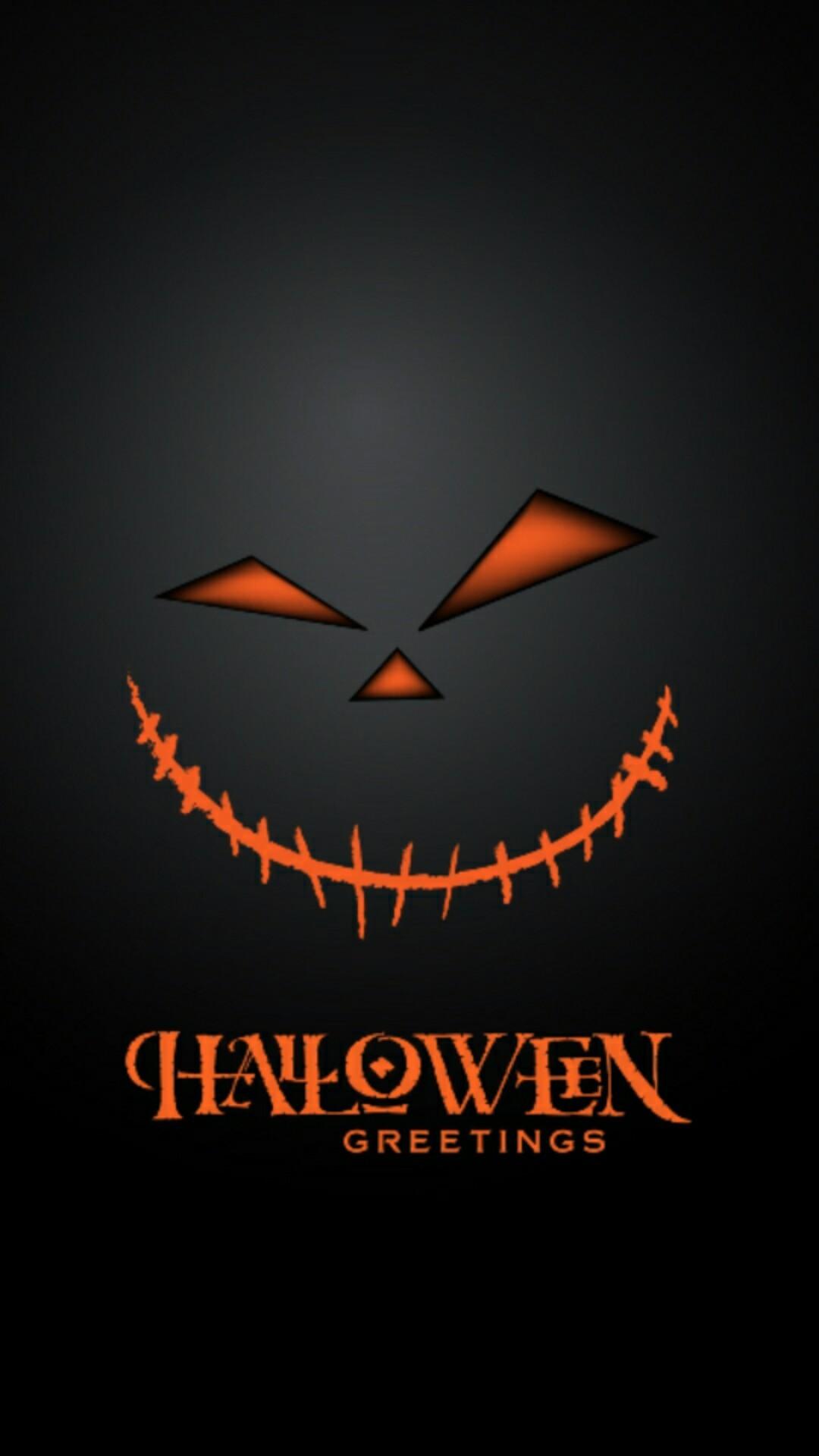 Pumpkin Halloween cellphone wallpaper locks screen
