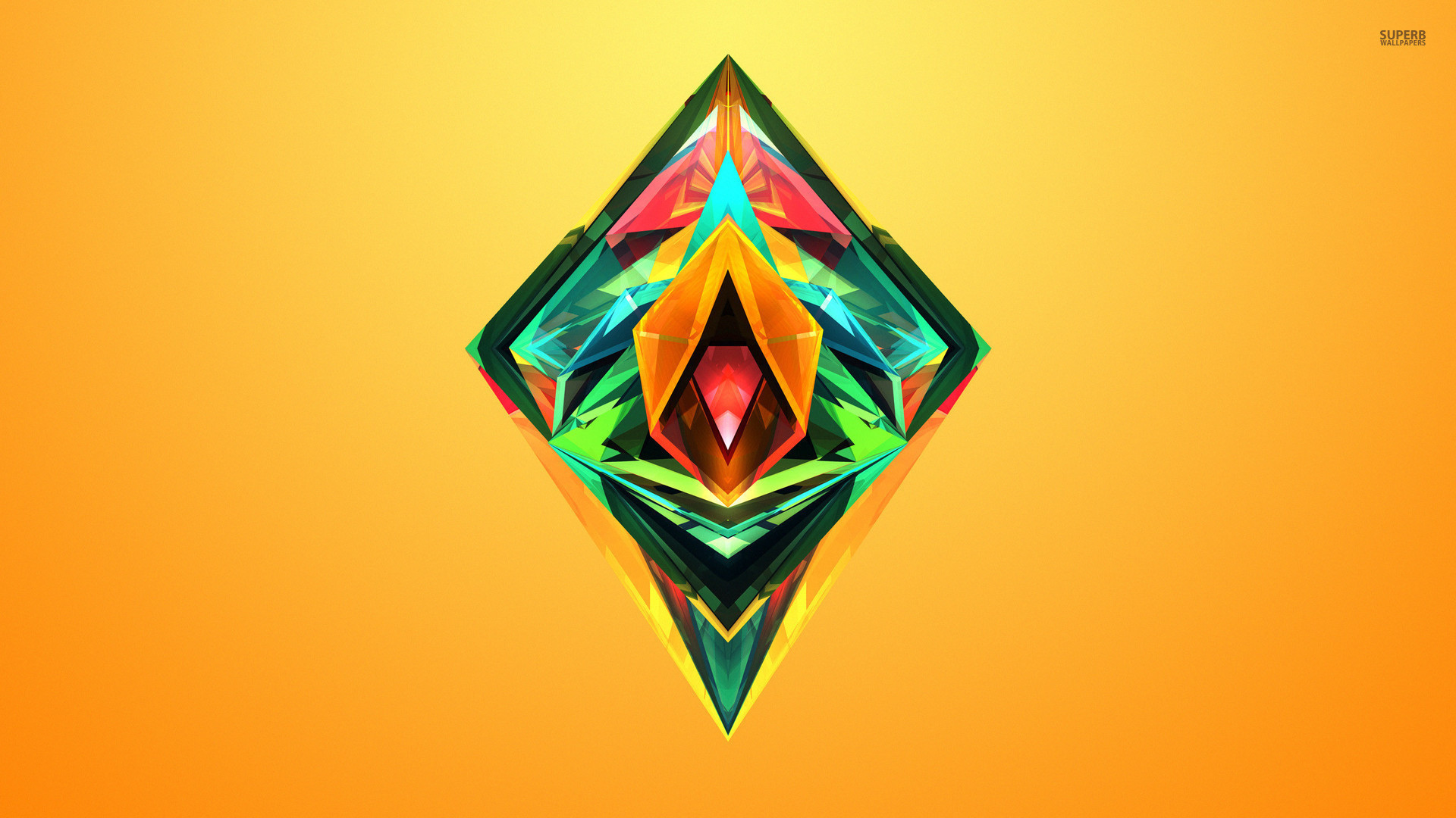 Colorful Facets Shining Inside The Diamond Wallpaper 1920×1080