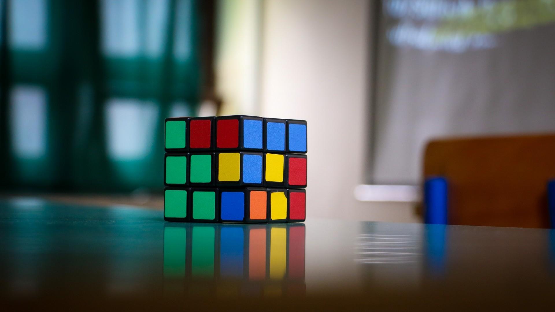 Preview wallpaper rubiks cube, puzzle, multi-colored 1920×1080