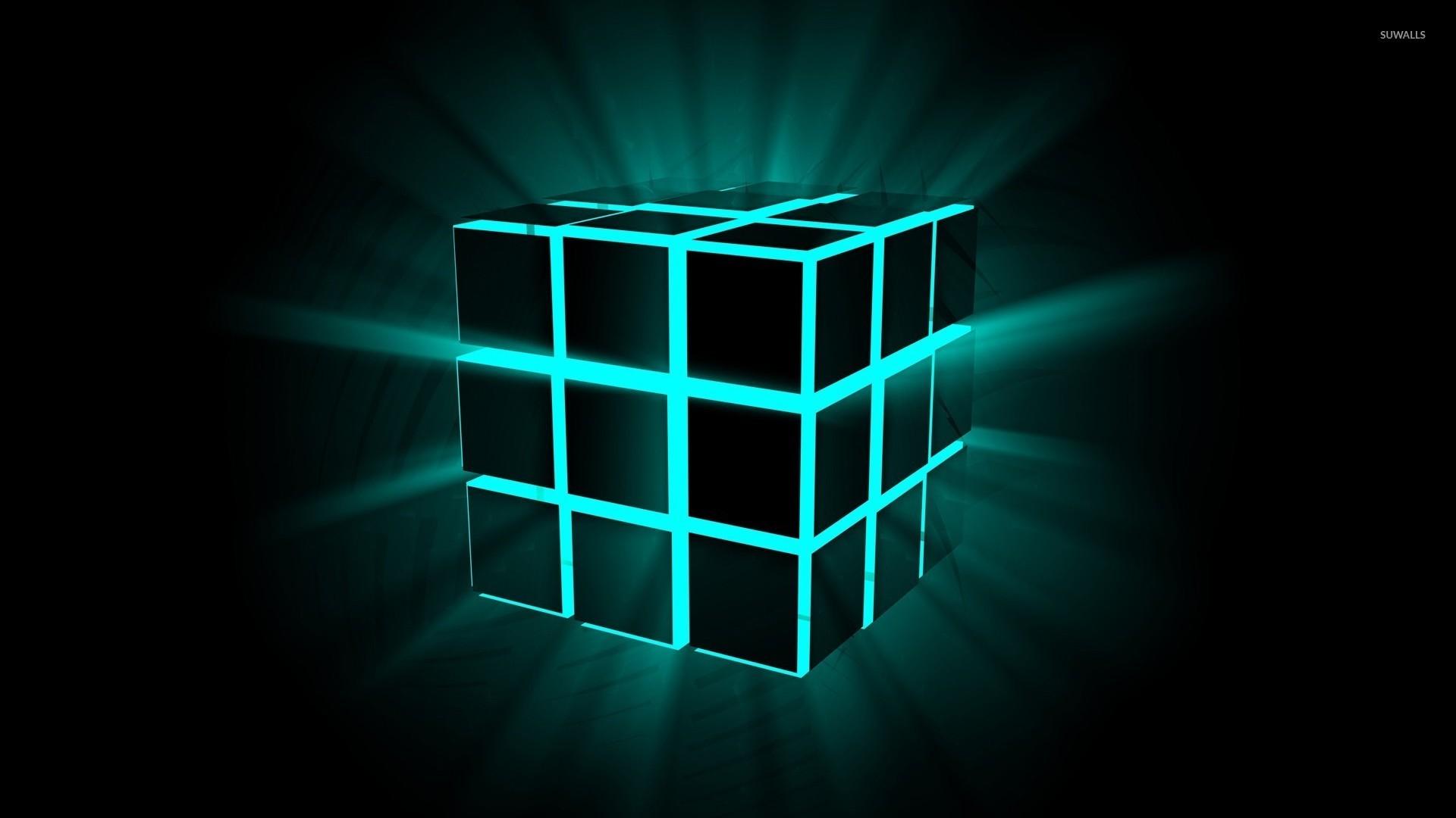 Neon cube wallpaper – 3D wallpapers – #23099
