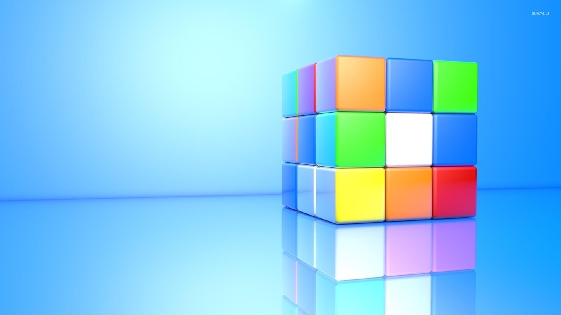 Colorful 3D Rubik's Cube wallpaper jpg