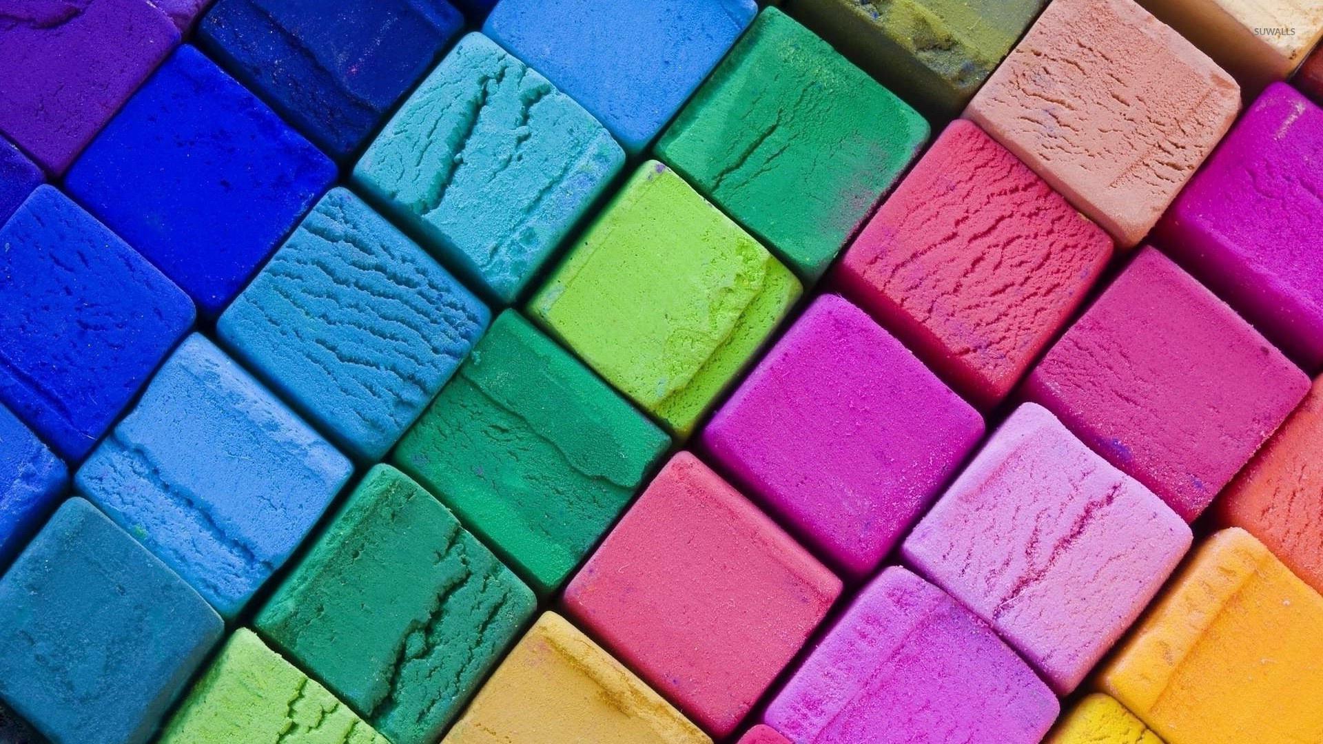 Multicolored cubes wallpaper jpg