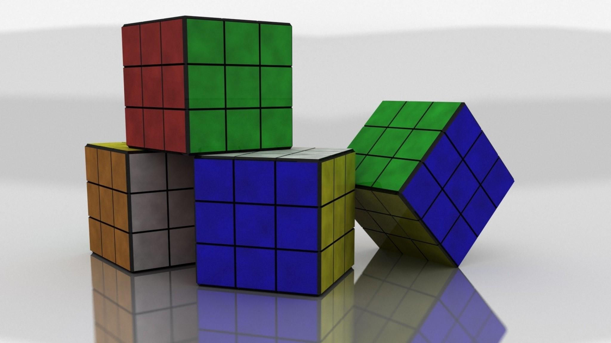 Wallpaper rubiks cube, colorful, size, shape