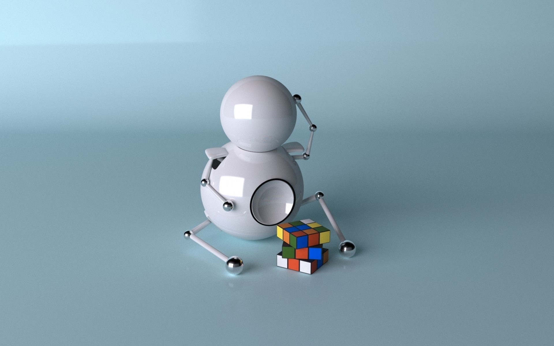 The robot and the Rubik's cube