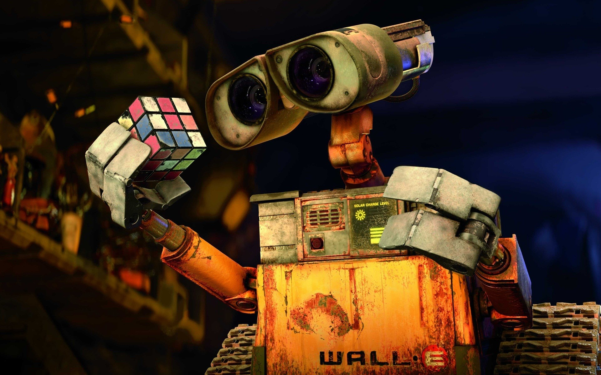 Wall E Rubiks Cube X Hd Wallpapers