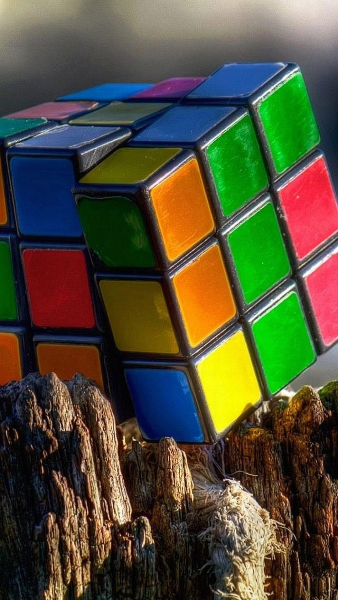 Colorful Rubik's Cube Puzzle HD iPhone 6
