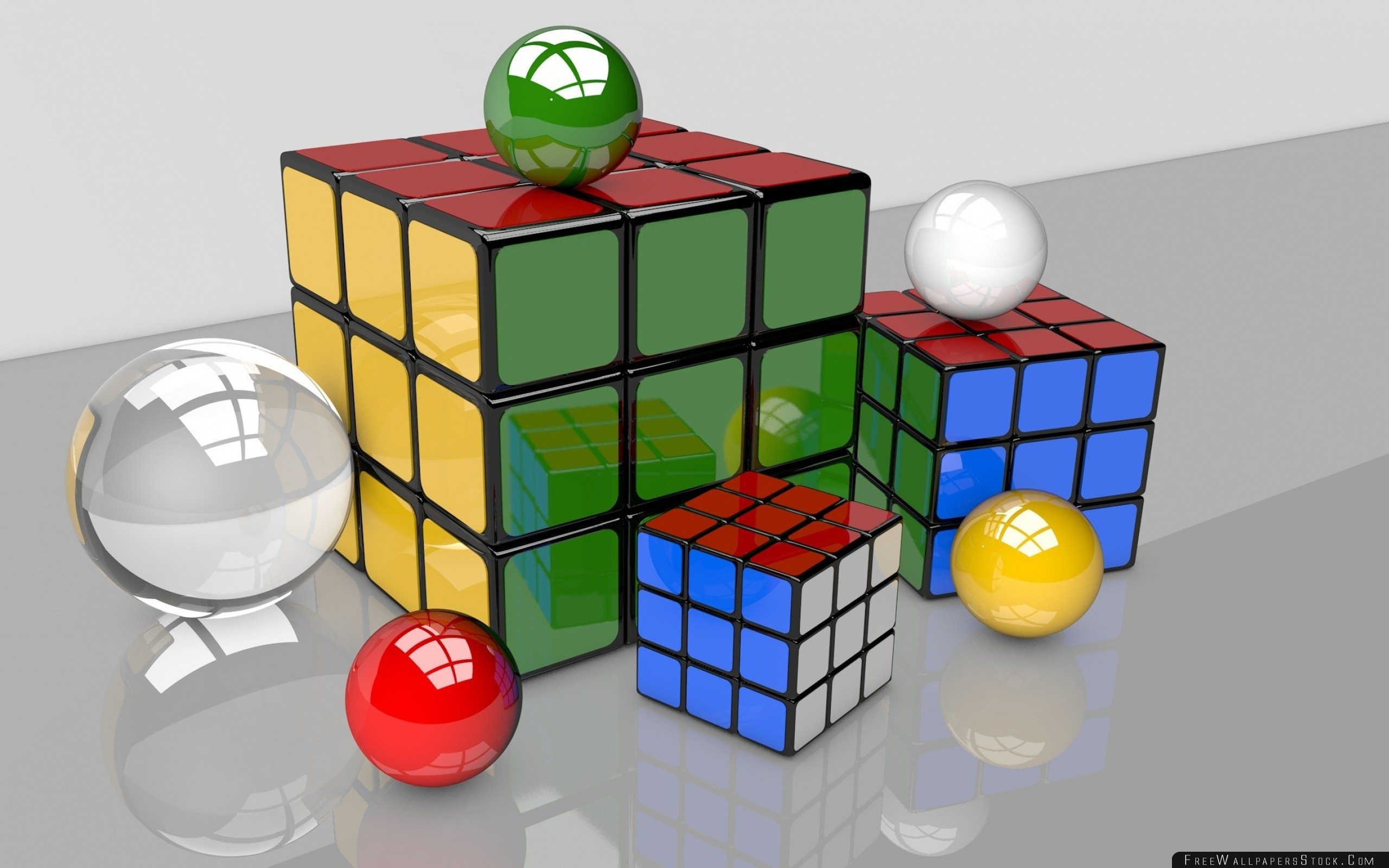 Download Free Wallpaper Rubiks Cube Balls