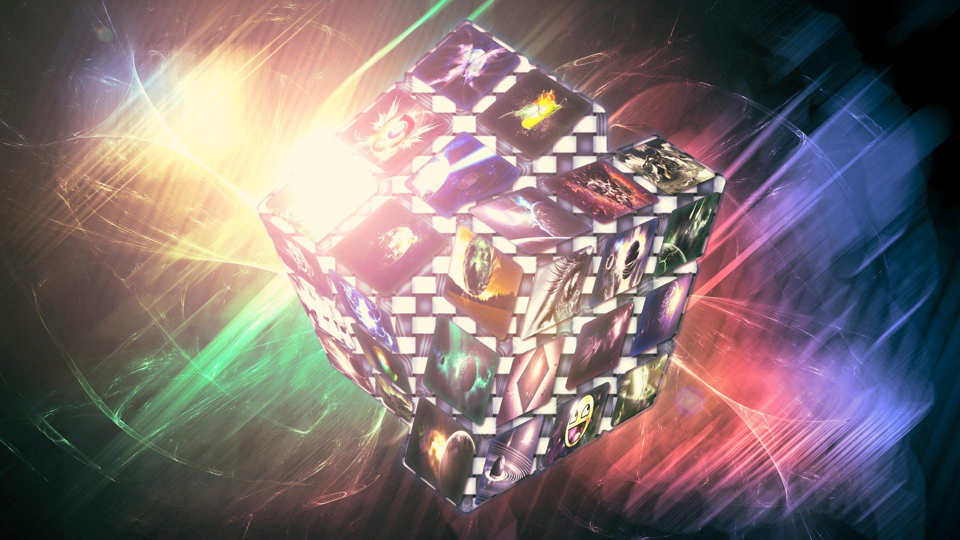 … Rubik Cube (Wallpaper) by Hardii