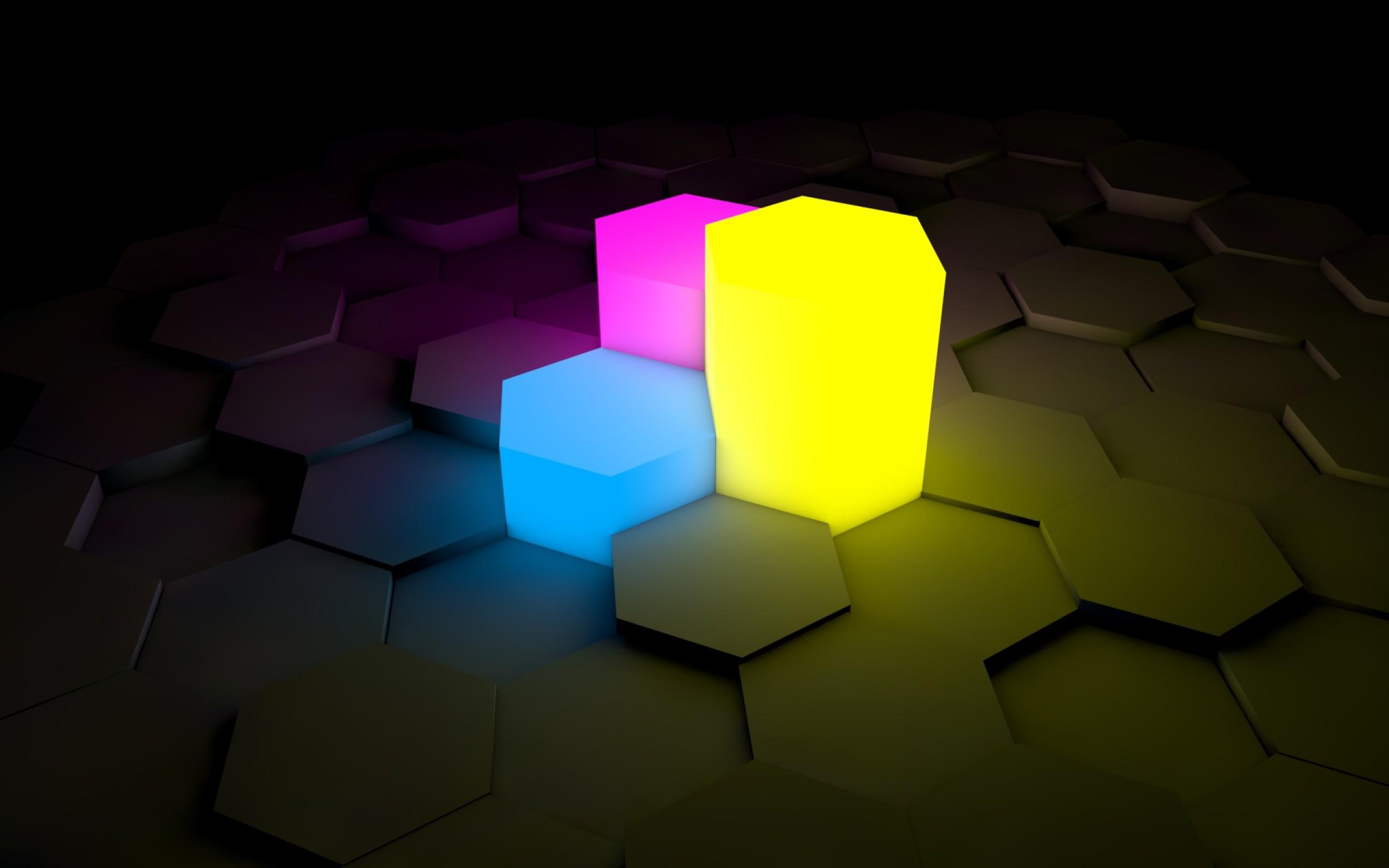 Neon Light Surface HD Wallpaper