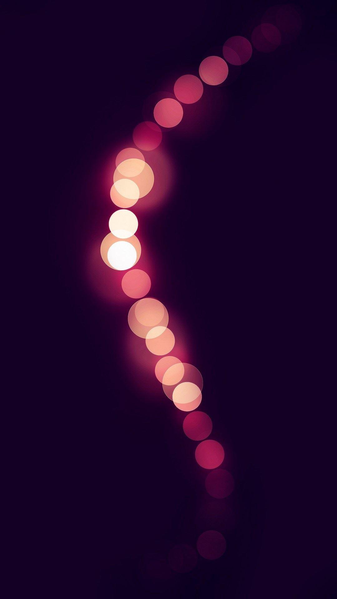 Pink Light Circles Bokeh iPhone 6 Plus HD Wallpaper