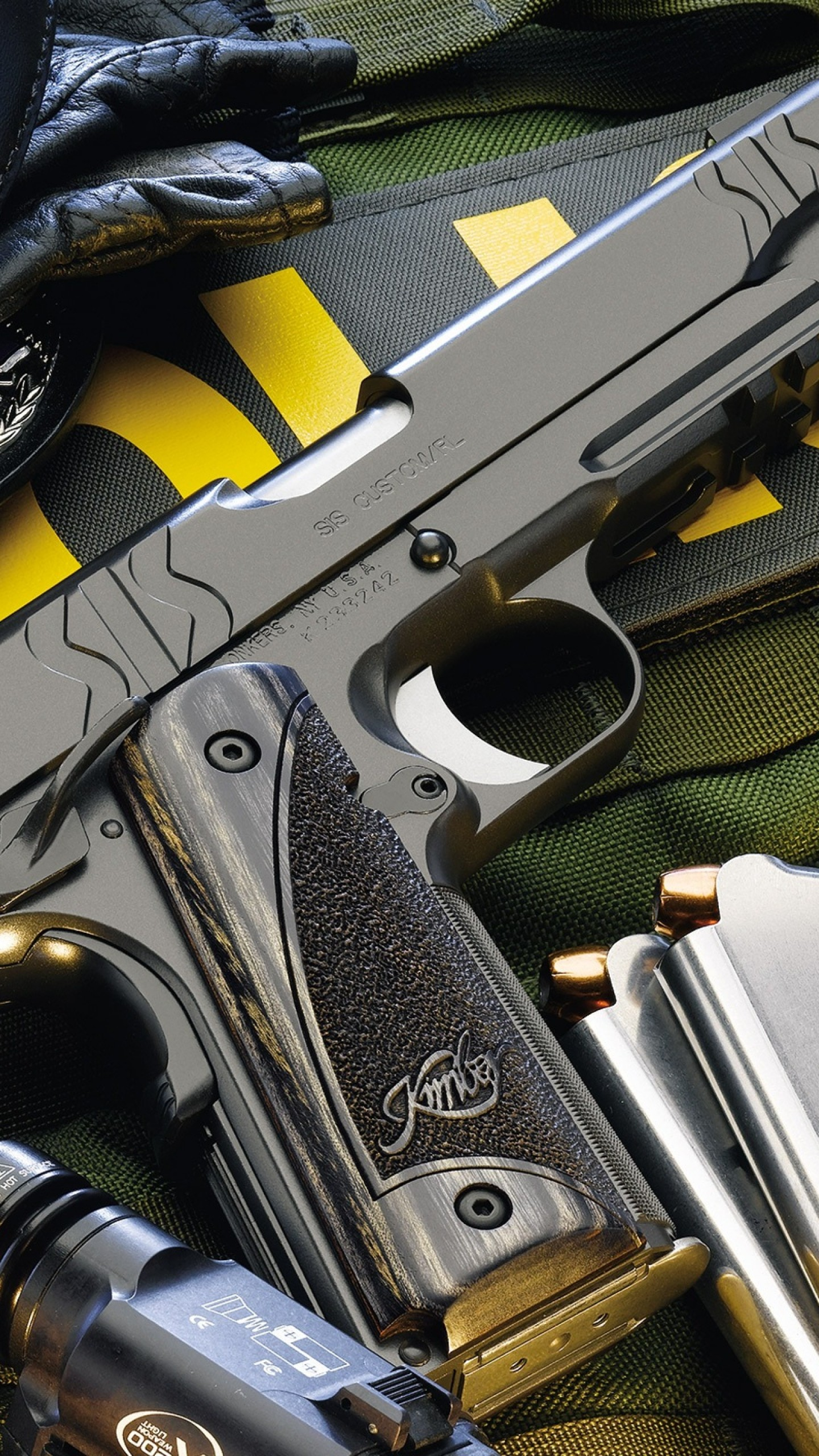Preview wallpaper police, guns, gun, knife, defense 1440×2560