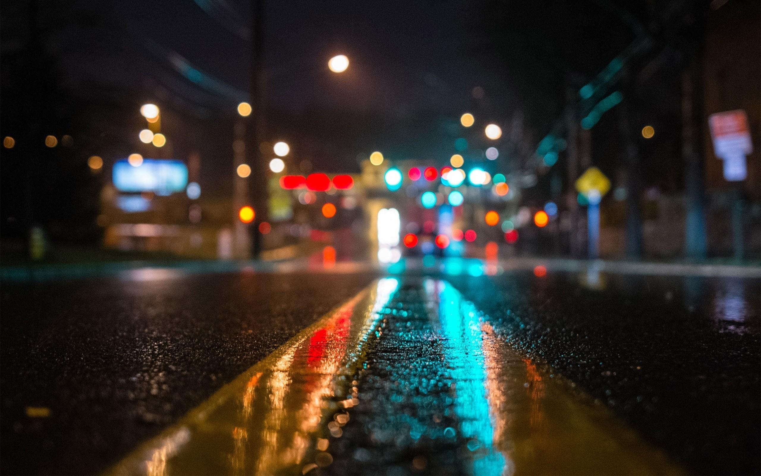 wallpaper.wiki-New-york-street-wet-road-lights-
