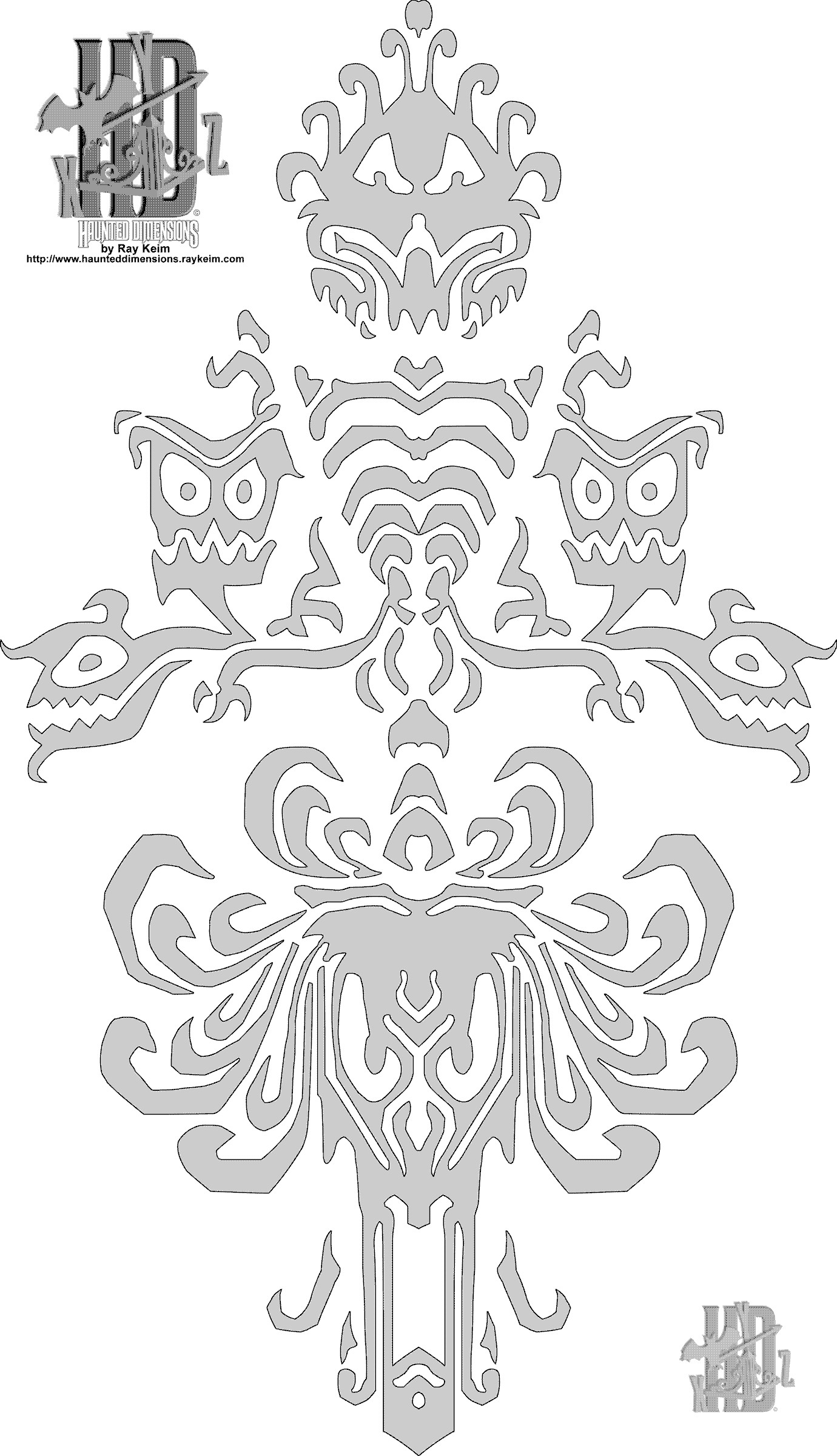 Haunted Mansion Wallpaper to print on cardstock to transfer to strong  vellum for wall stencil (