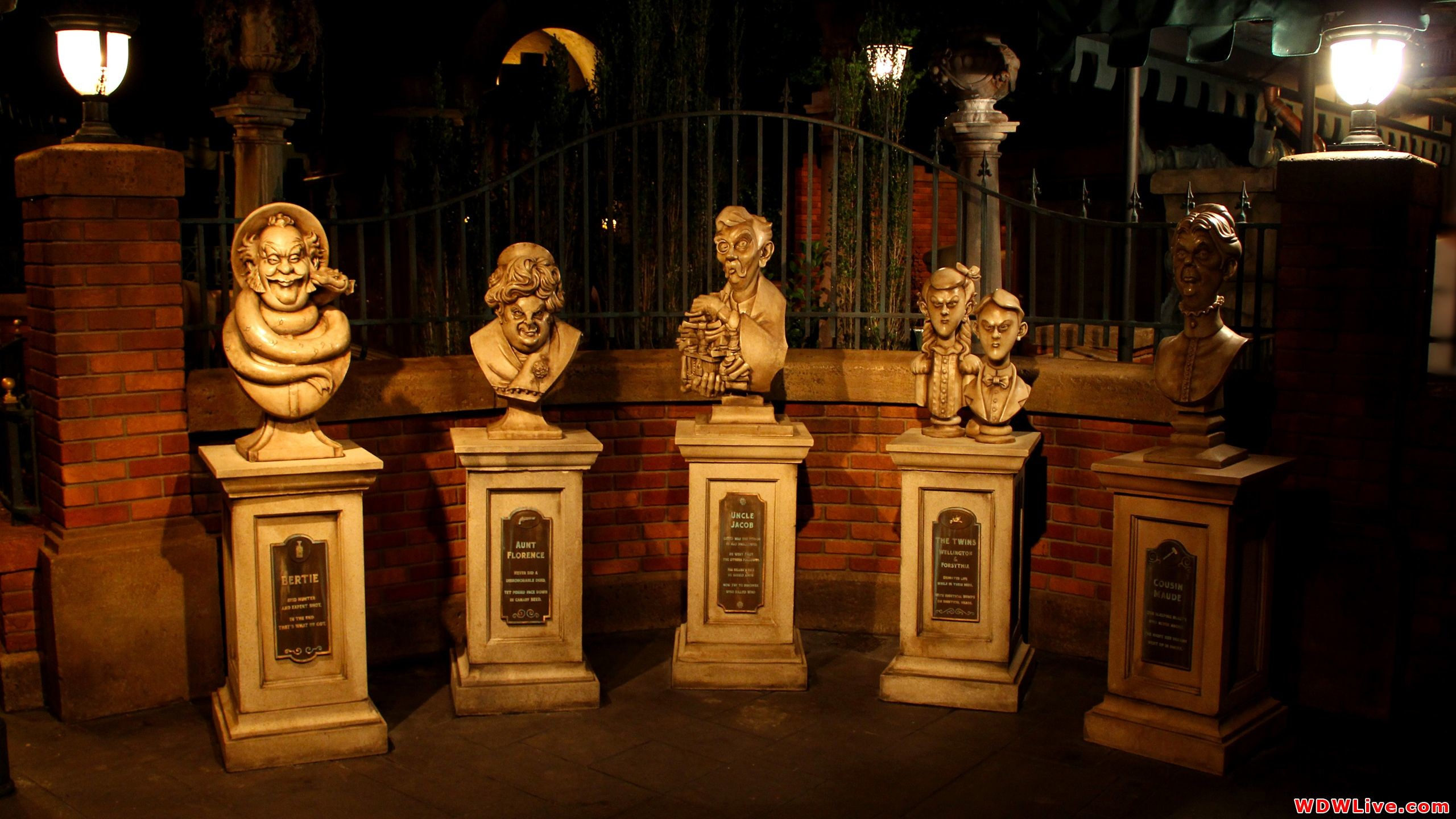 The Haunted Mansion: Part of the new outdoor queue.