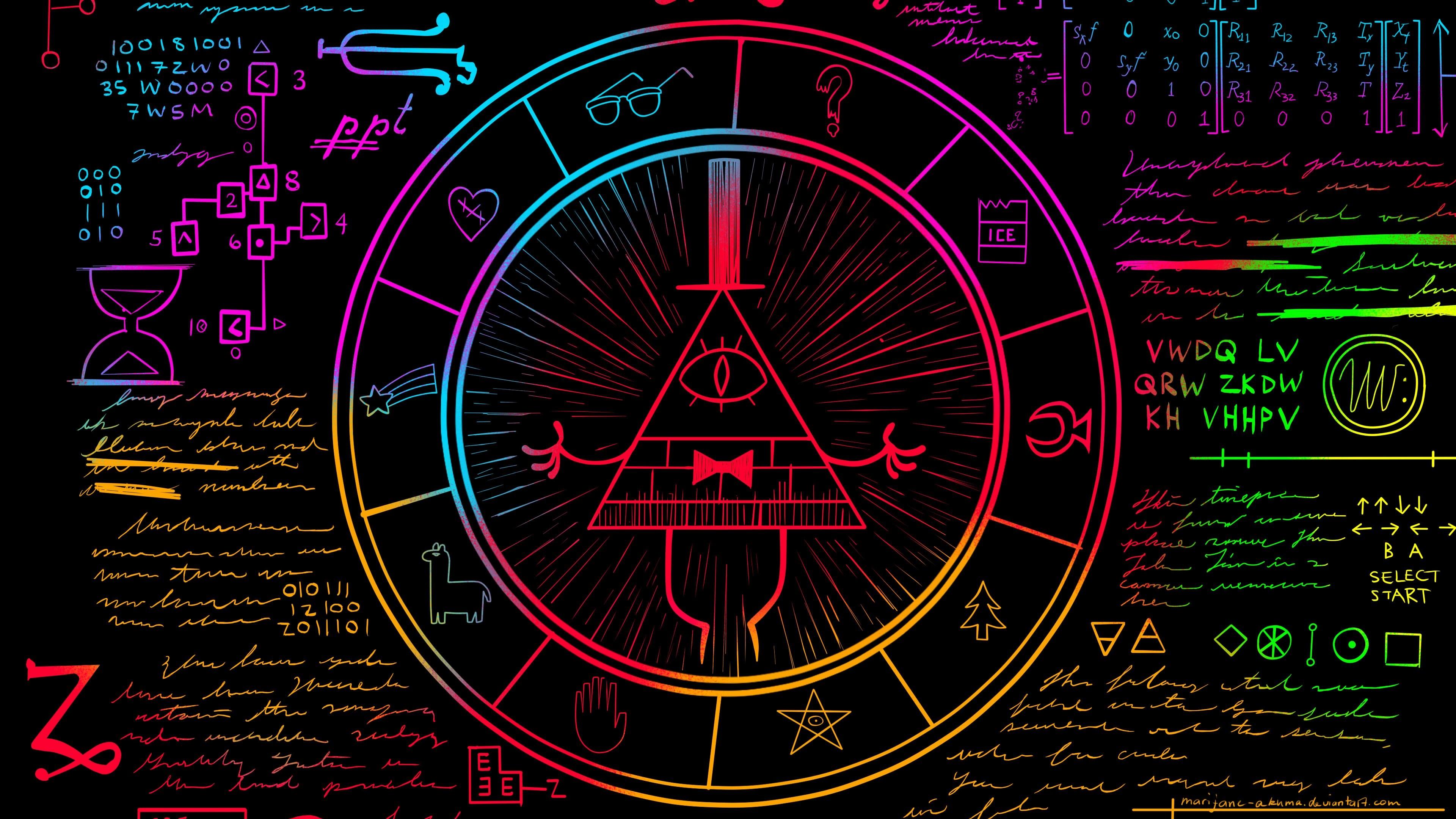 Weirdmageddon Part One Gravity Falls Bill Cipher's Circle Wheel – YouTube