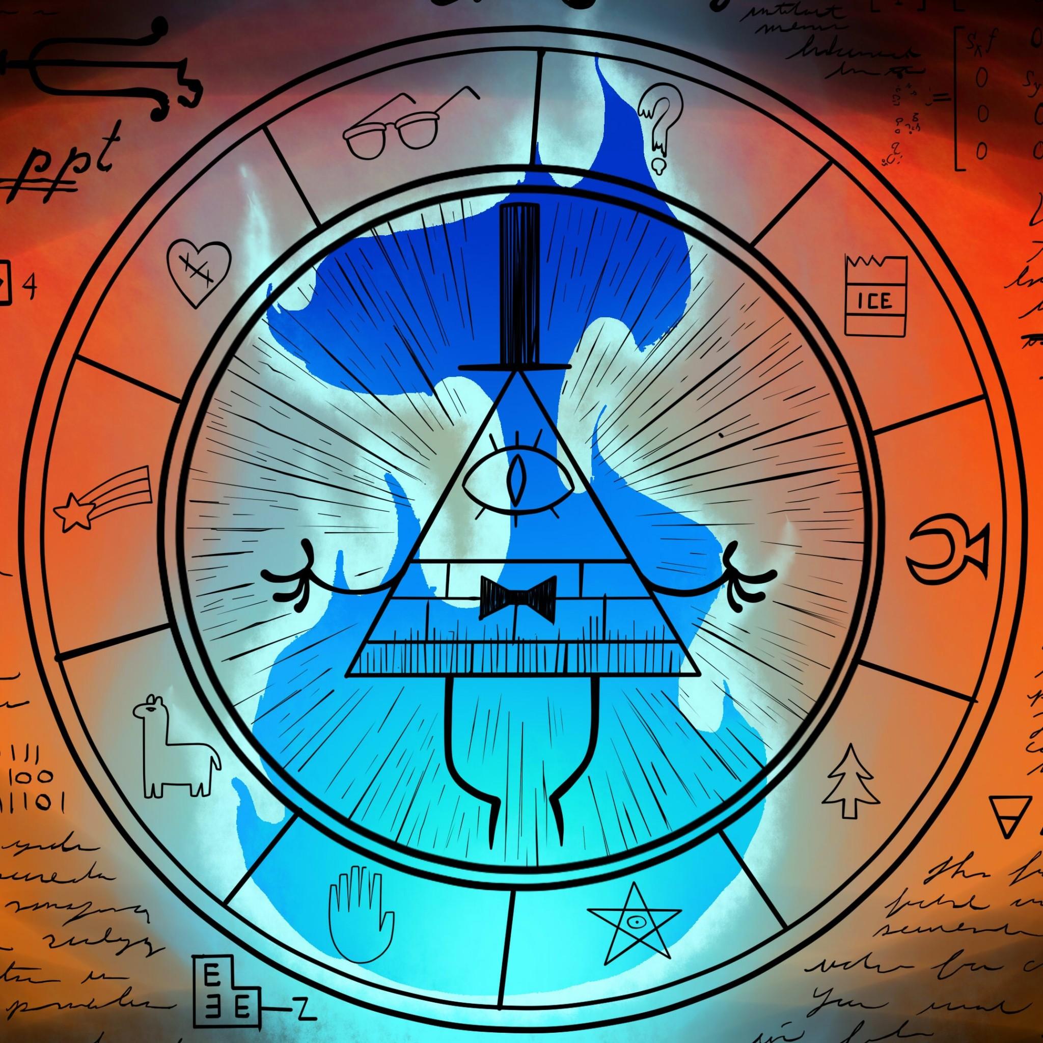 Download Bill Cipher Wheel Gravity Falls 2048 x 2048 Wallpapers – 4601564 –  gravity falls animation bill cipher | mobile9