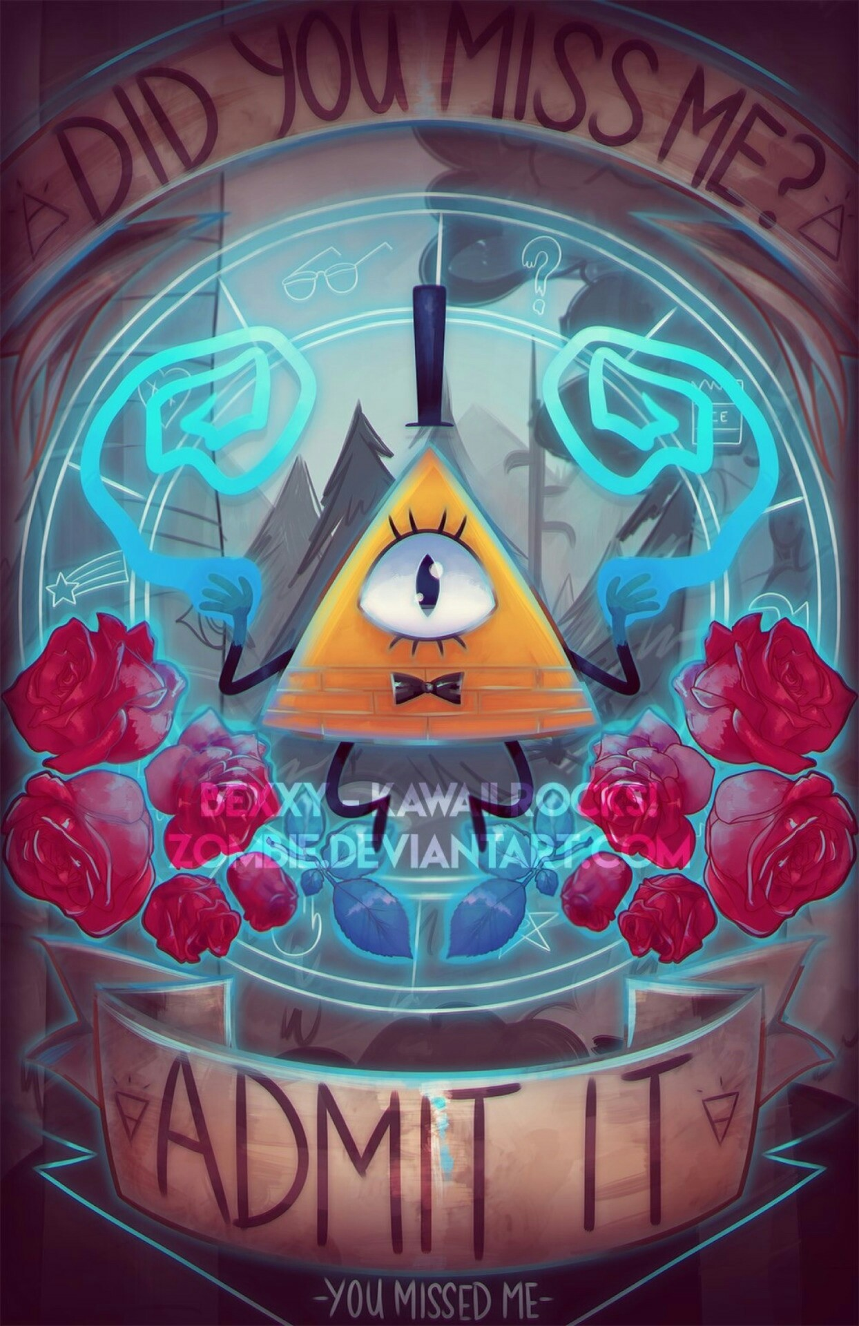 You Missed Me – Bill Cipher – Gravity Falls by zombie on DeviantArt