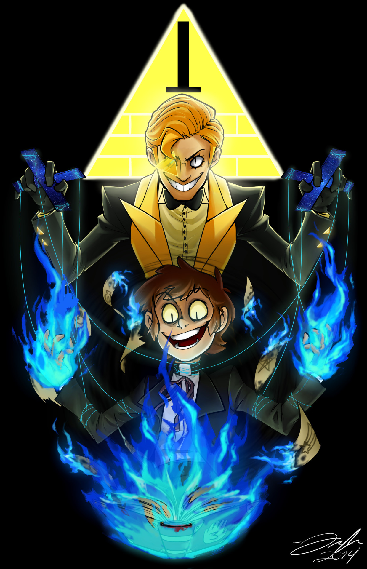 An fan work of Boomsheika's humanized Bill Cipher and Dipper Pines from the  Disney animated series Gravity Falls. You don't realize that the human  version …