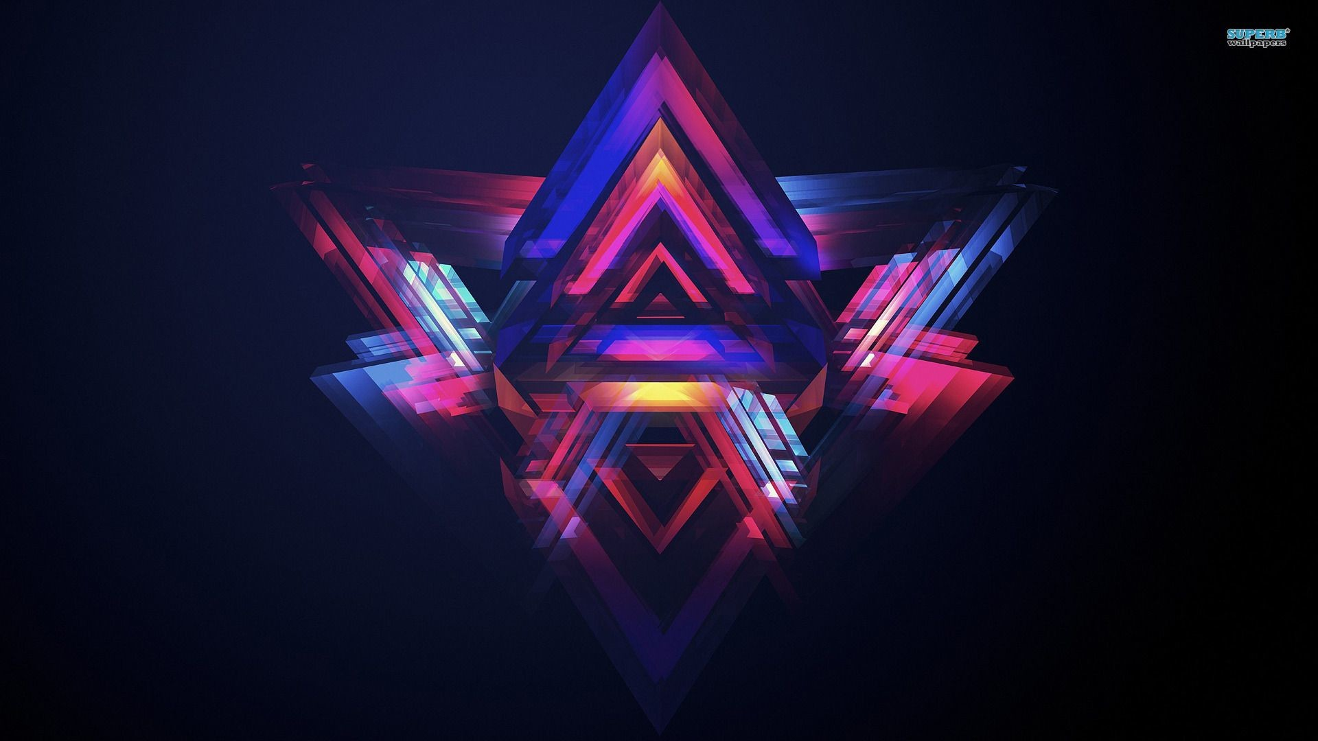 Triangles Cool Neon Backgrounds