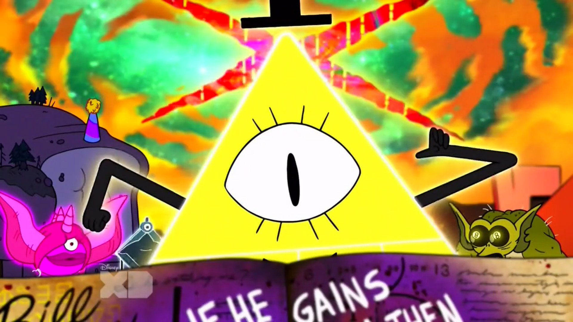 Bill Cipher: Transformed/Active (gained physical form. At the Fearamid)