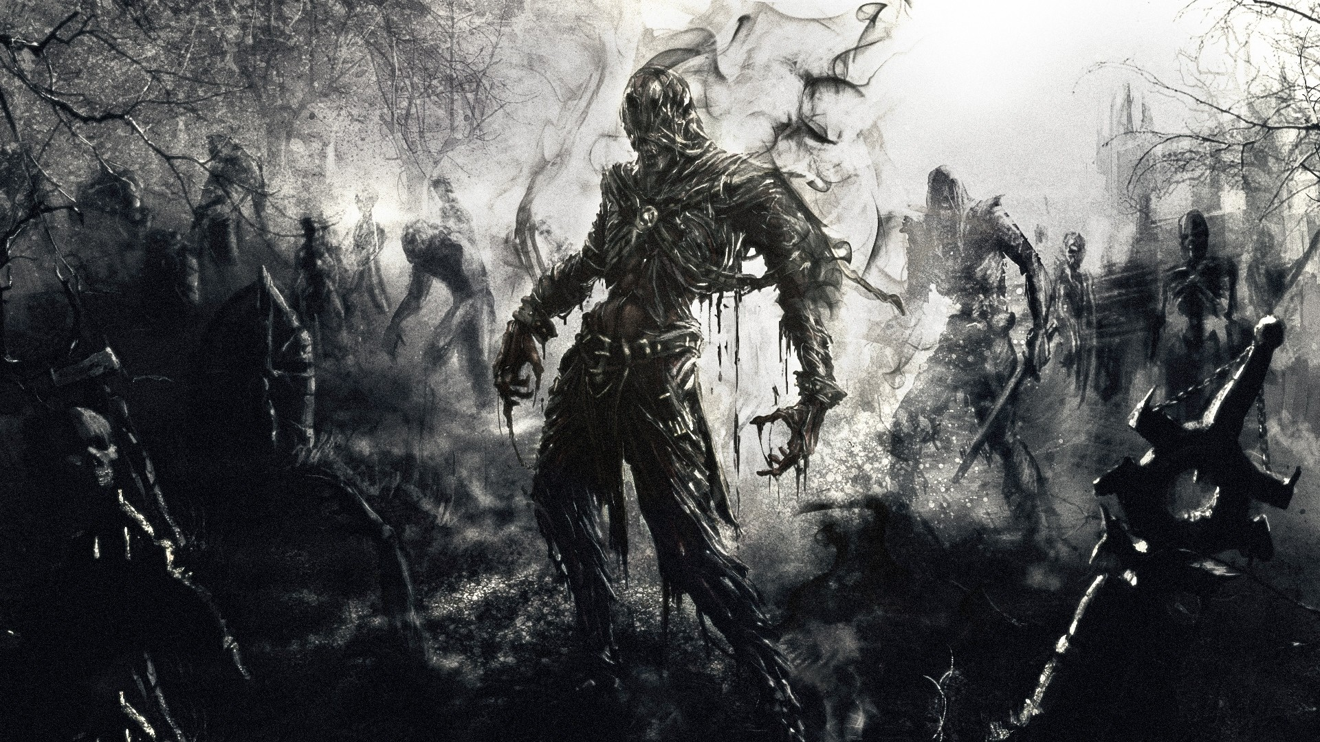Preview wallpaper zombies, fantasy, art 1920×1080