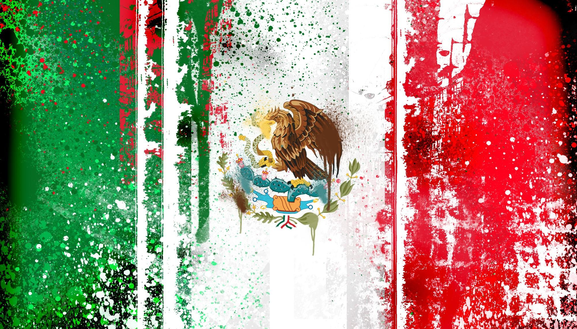 HD Mexican Flag Paint Wallpaper